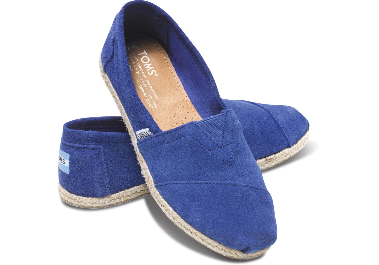 Lyst Toms Blue Suede Rope Sole Women S Classics In Blue