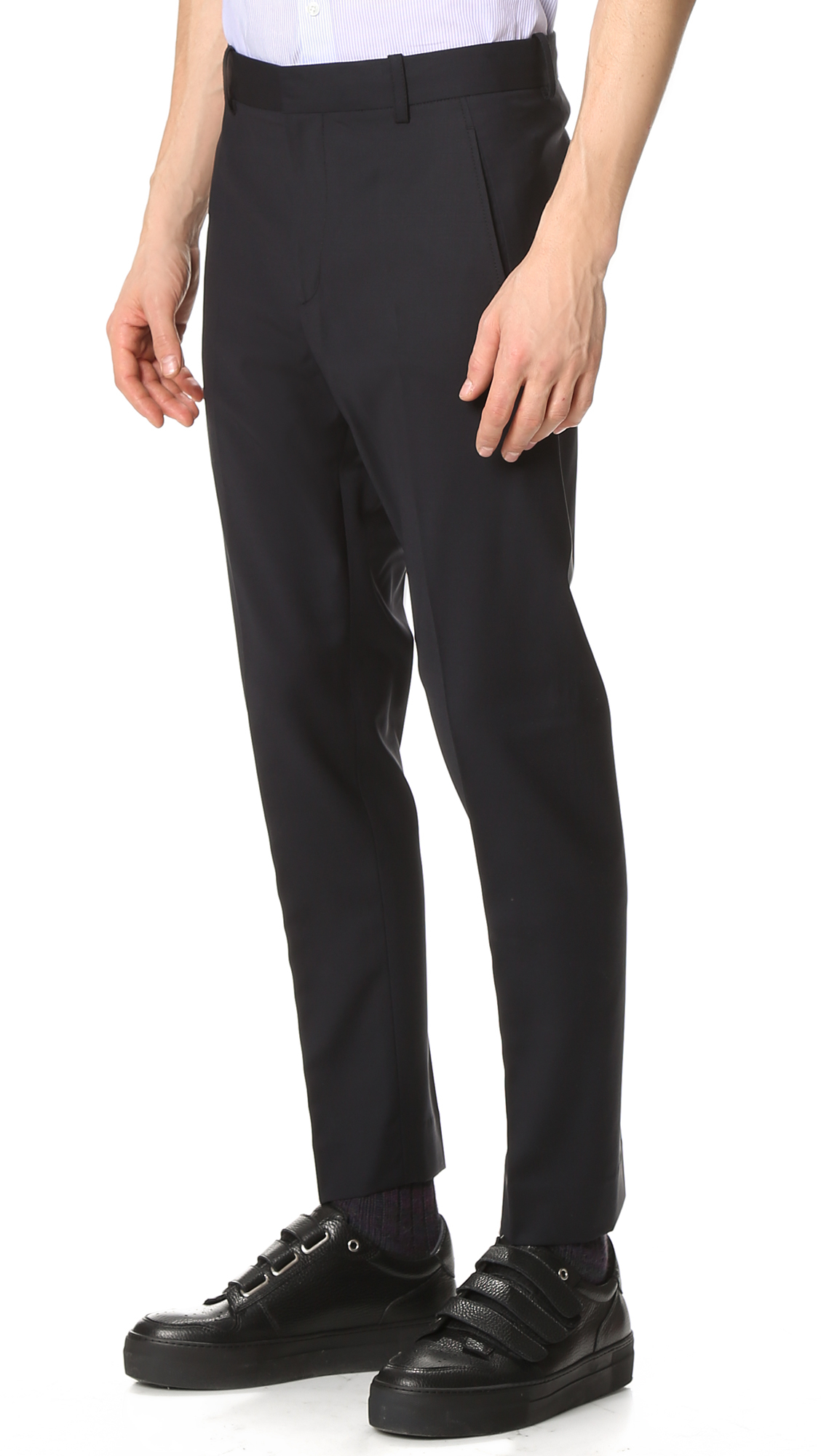 3.1 Phillip Lim Wool Tapered Trousers With Dart Pockets in Midnight (Black) for Men