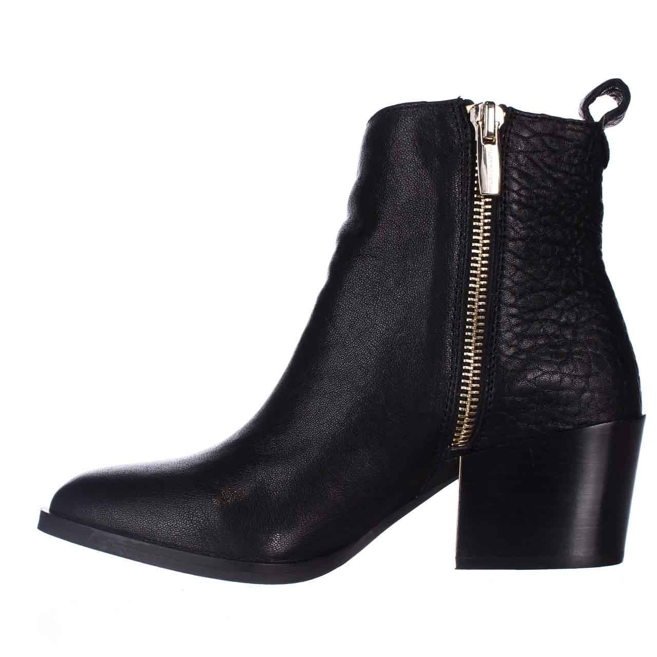vince camuto imala low heel ankle boots in black lyst