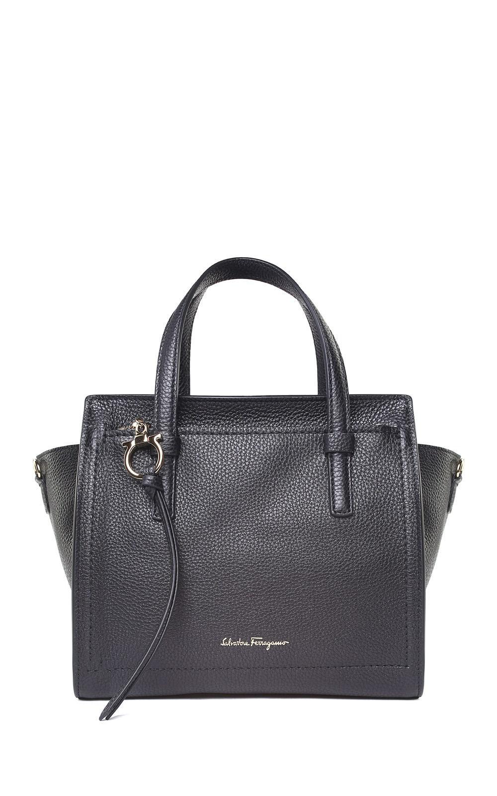 b564b0292bb8 Ferragamo - Black Amy Small Pebbled-leather Crossbody Bag - Lyst. View  fullscreen