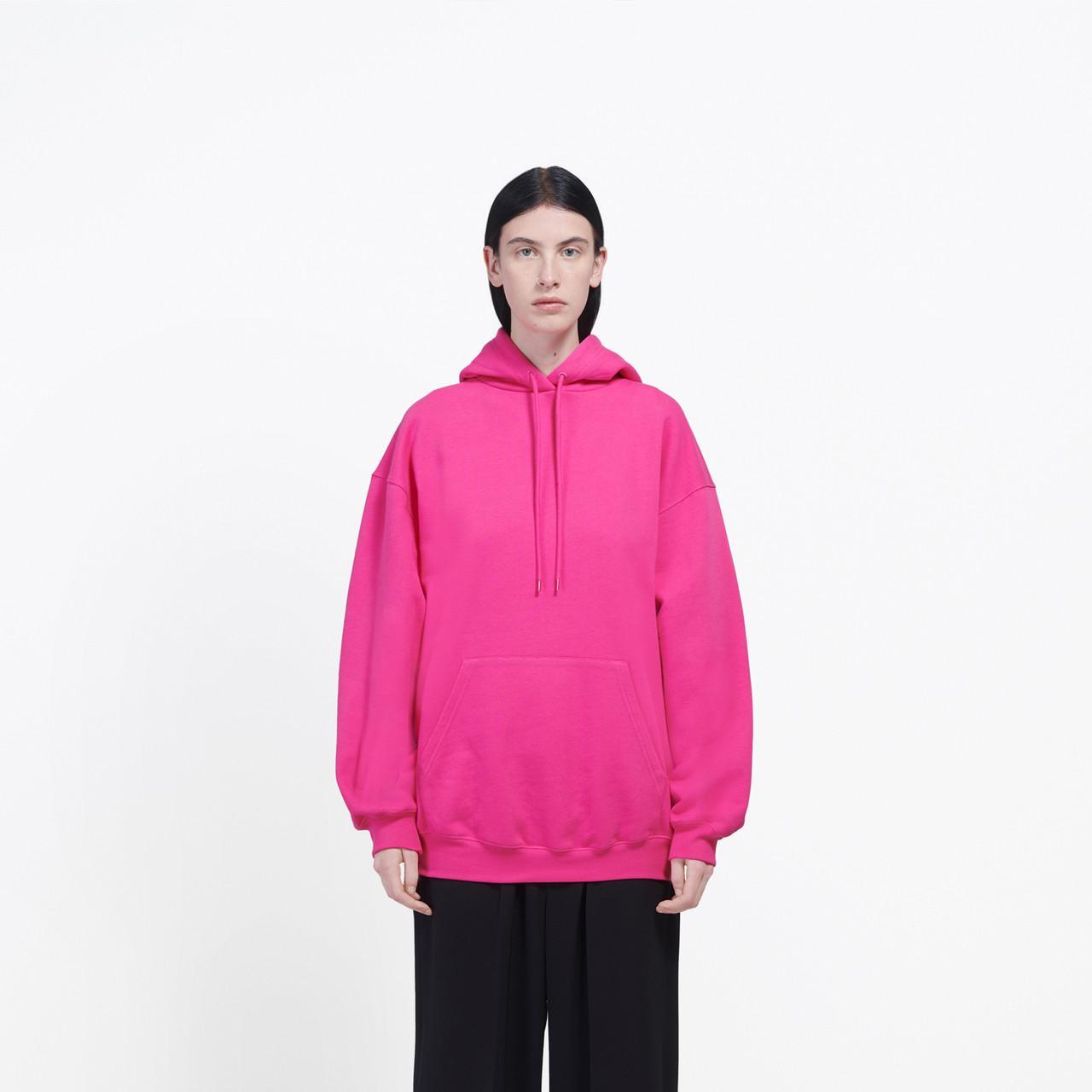 Sudadera con capucha «Logo» Balenciaga de Polar de color Rosa