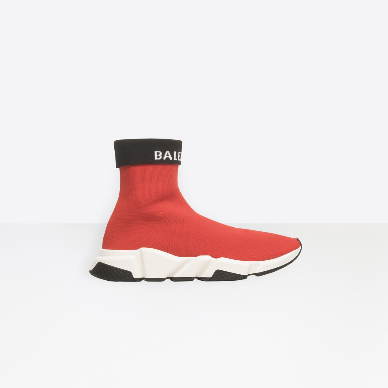 Balenciaga Rubber Speed Sneakers in Red