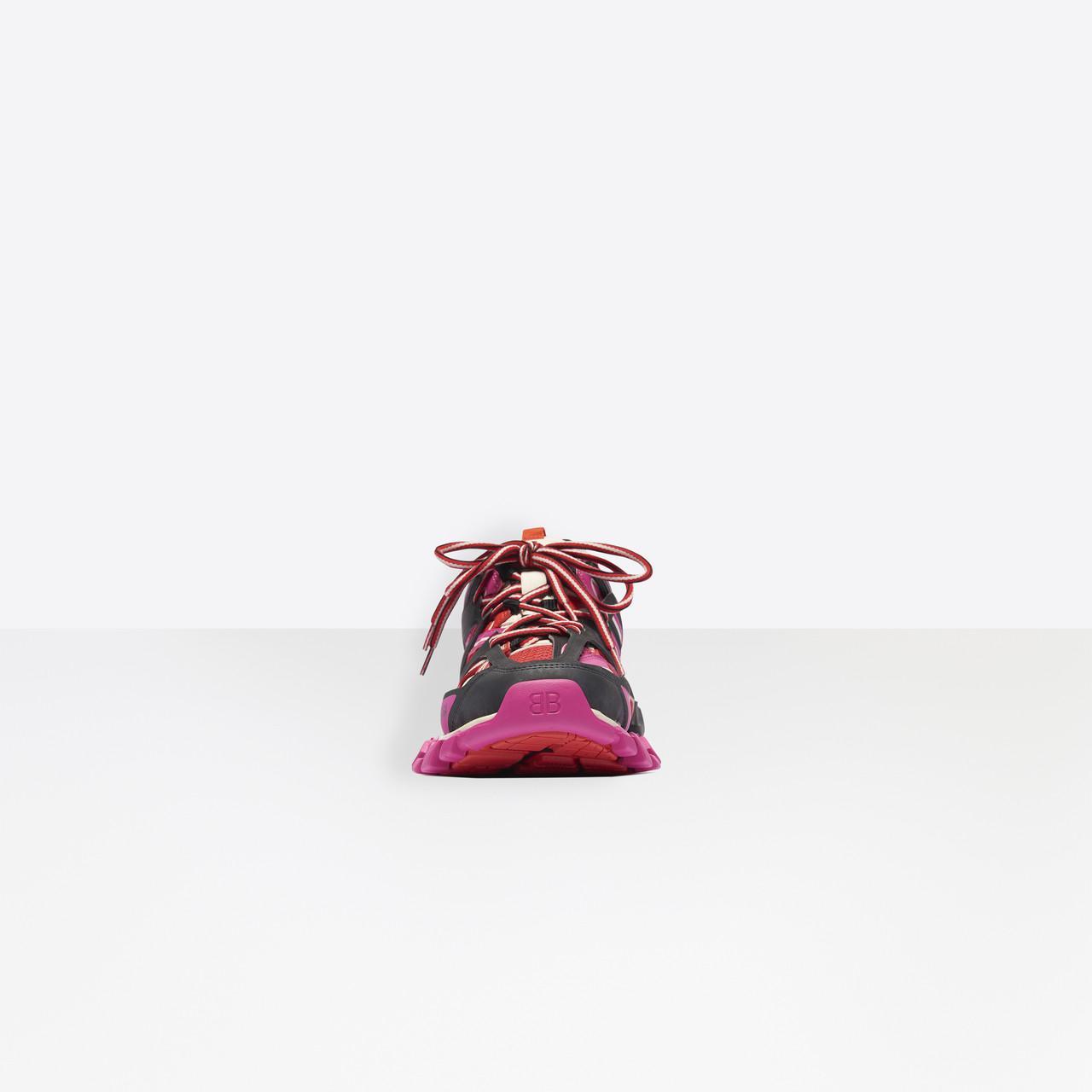 Zapatillas Track Balenciaga de Tejido sintético de color Rojo