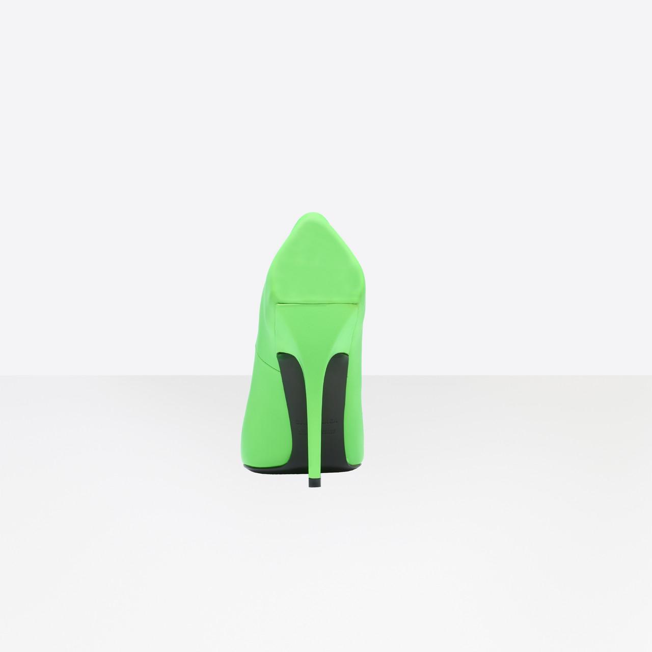 Balenciaga Square Knife Neon Leather