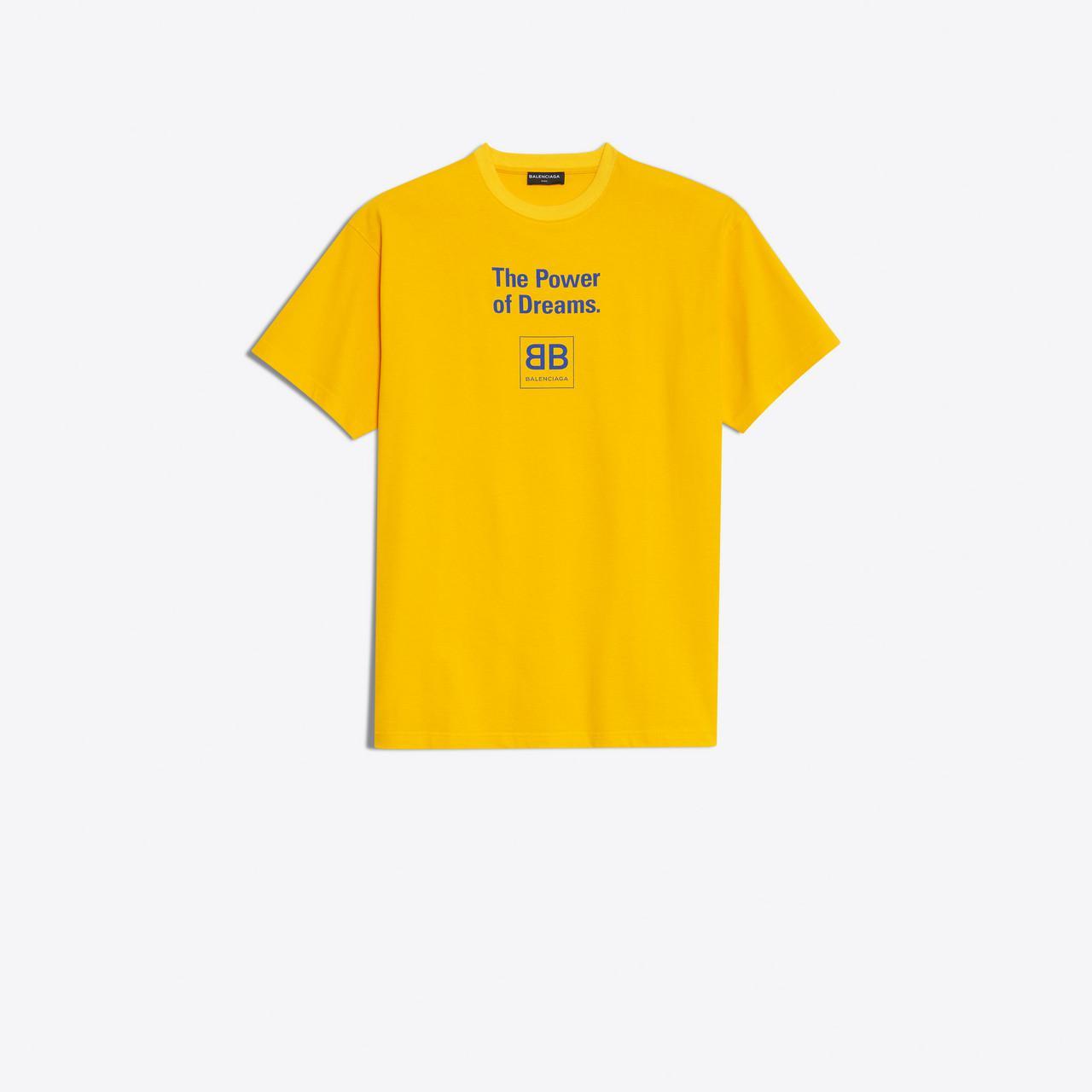 07fd28b4d796 Balenciaga The Power Of Dreams T-shirt in Yellow for Men - Lyst