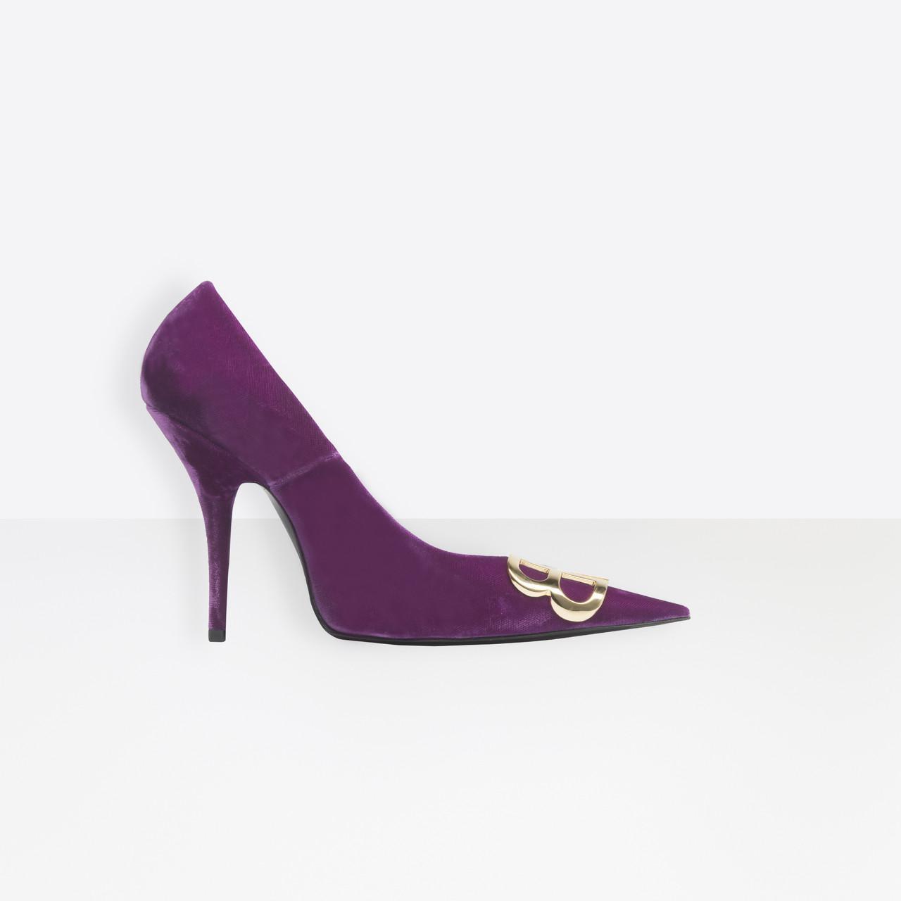 b7c86c4d33e Balenciaga Purple Bb Pumps Velvet