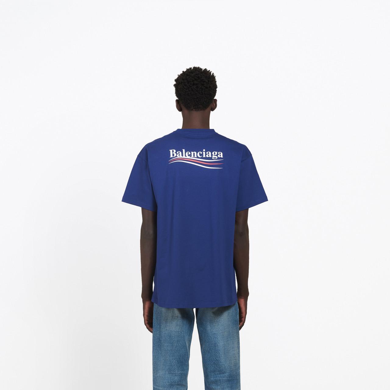 T-shirt con logo stampato da uomo di colore blu