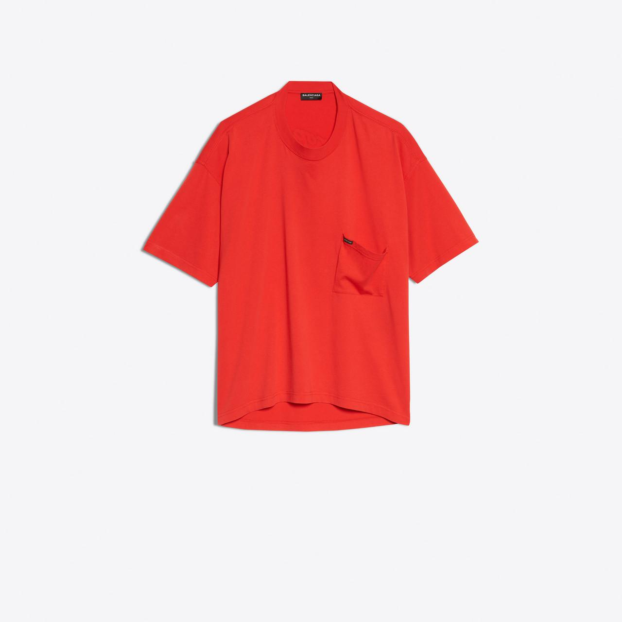 Lyst Balenciaga Oversize T Shirt Droopy In Red For Men