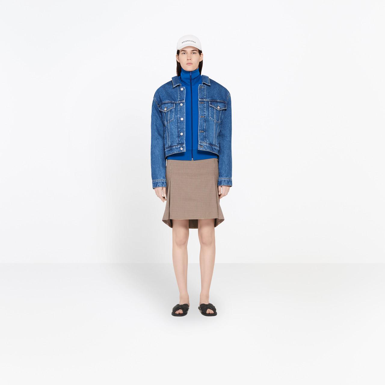 1c84720da4be27 Balenciaga Swing-collar Denim Jacket in Black - Lyst
