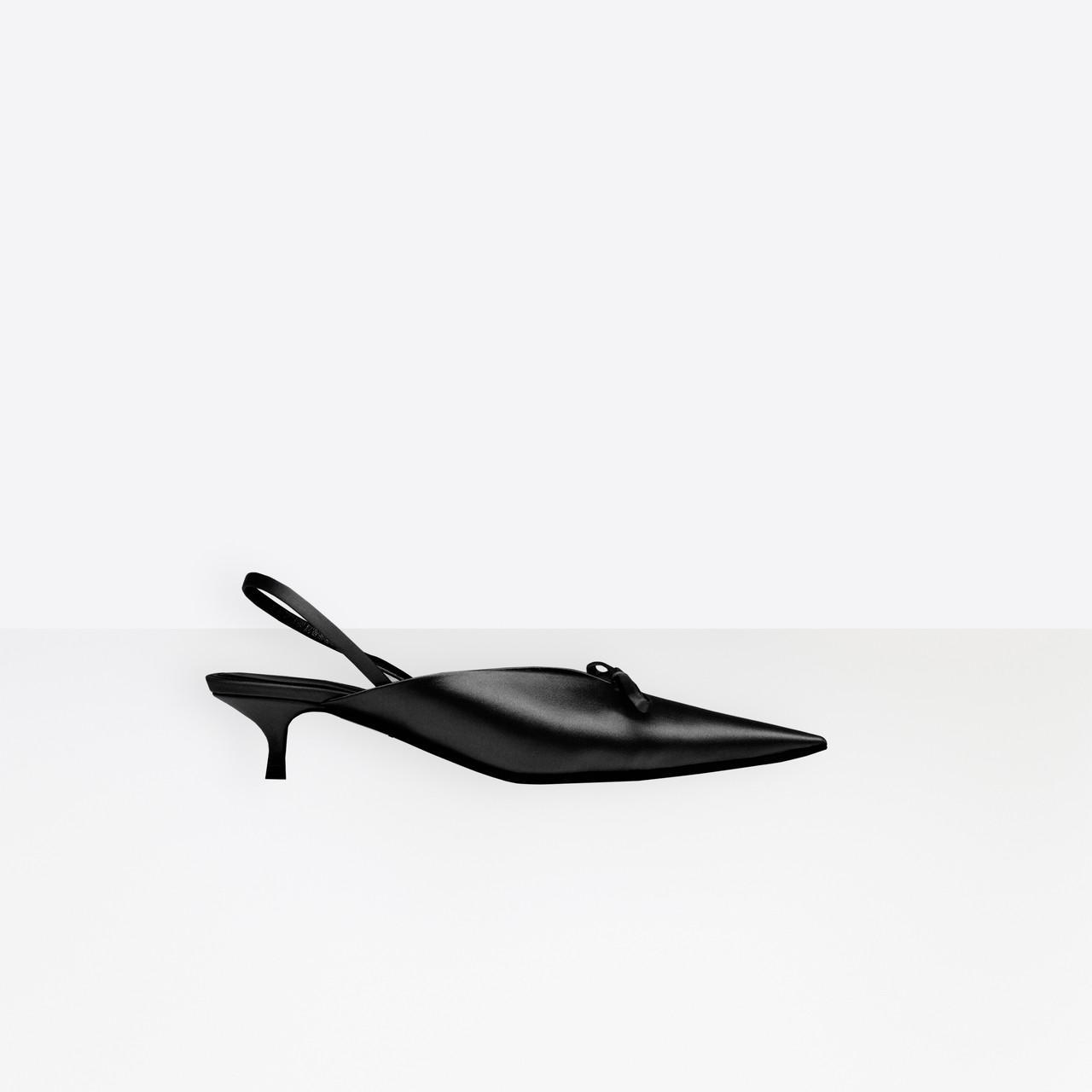 e0d6d6d5474b Lyst - Balenciaga Knife Slingback Mules in Black