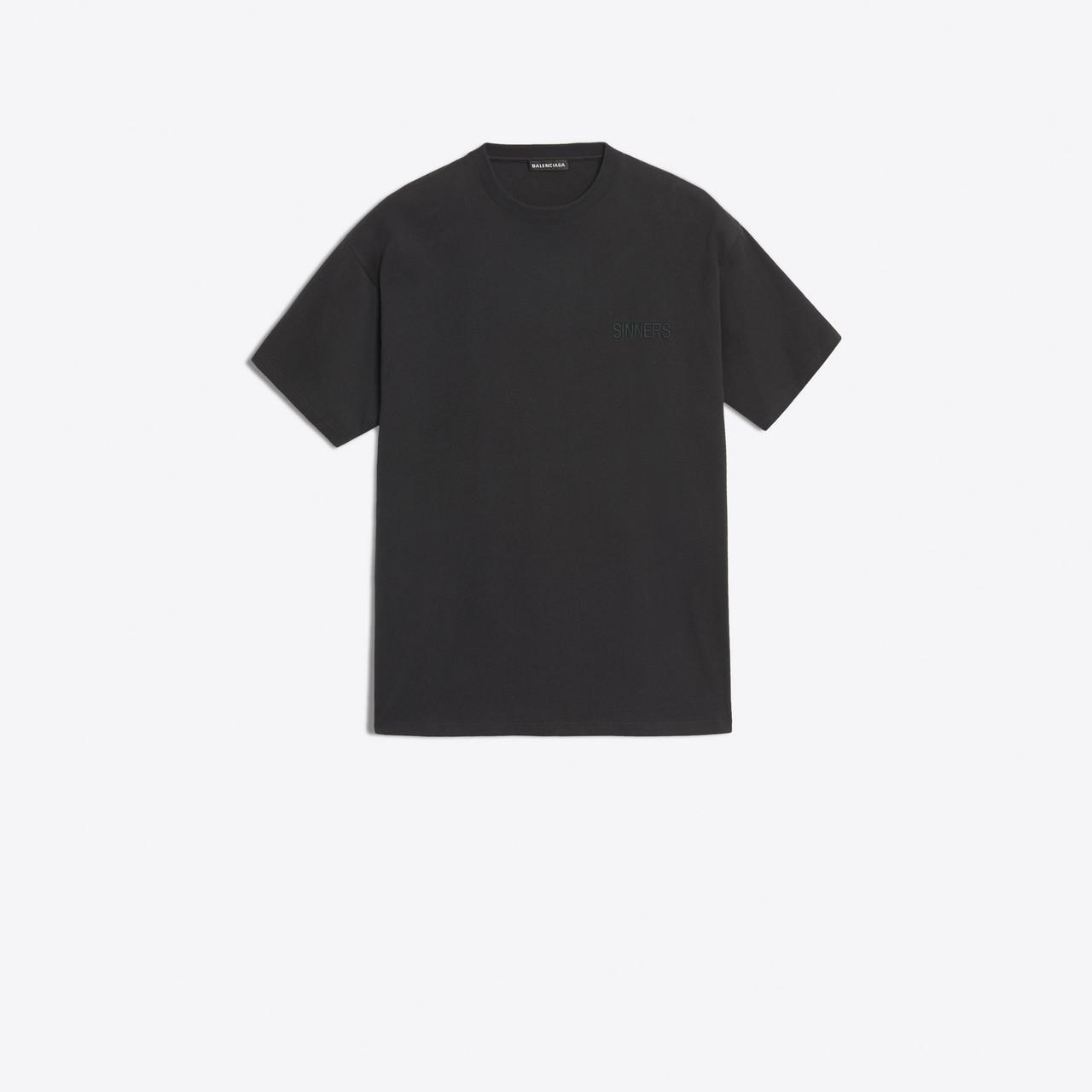 6b72f3165842 Balenciaga - Black T-shirt 'sinners' for Men - Lyst. View fullscreen