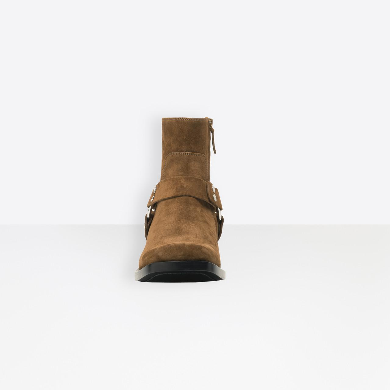 Balenciaga Leather Rider Boots in Brown
