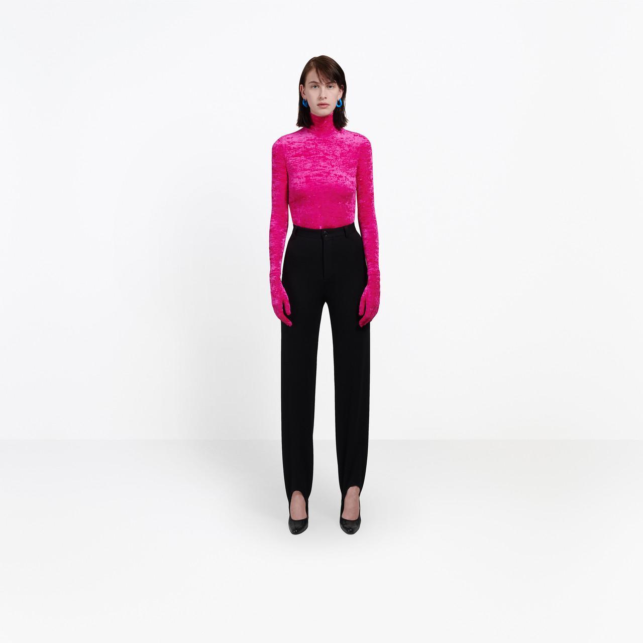 Balenciaga Velvet Top With Gloves in