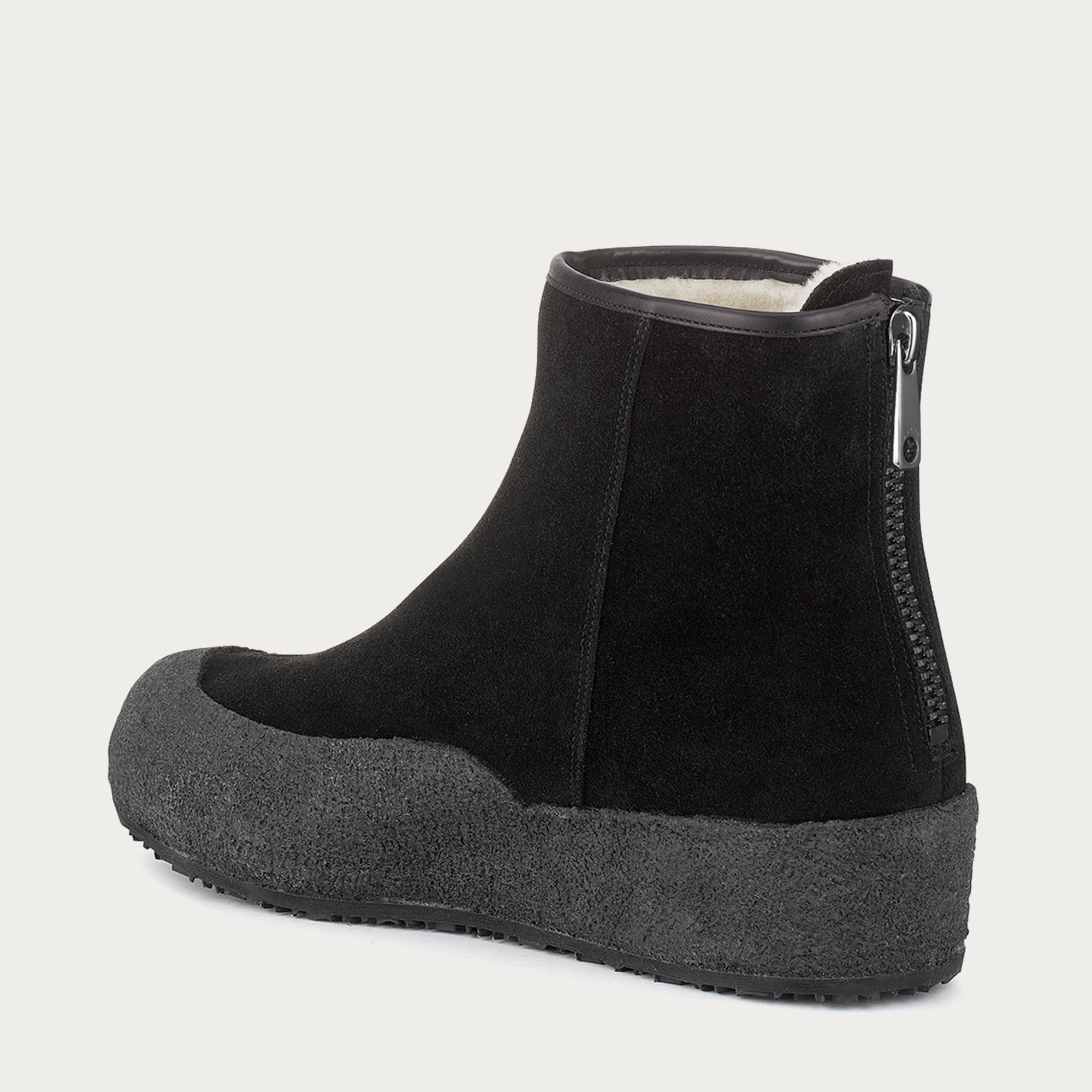 Bally Guard Women ́s Suede Boot In Black In Black Lyst