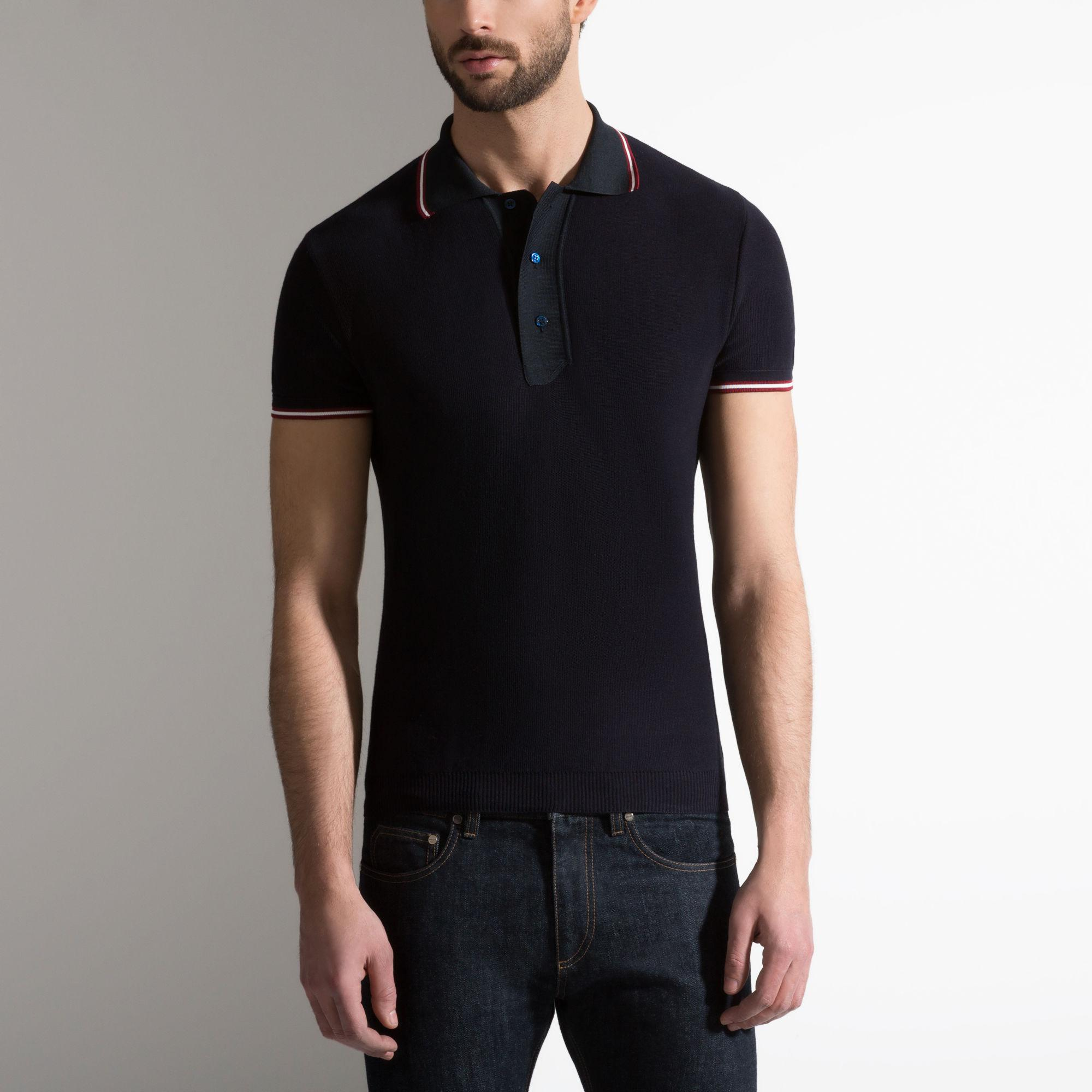 Bally Cotton Polo Shirt In Blue For Men Lyst
