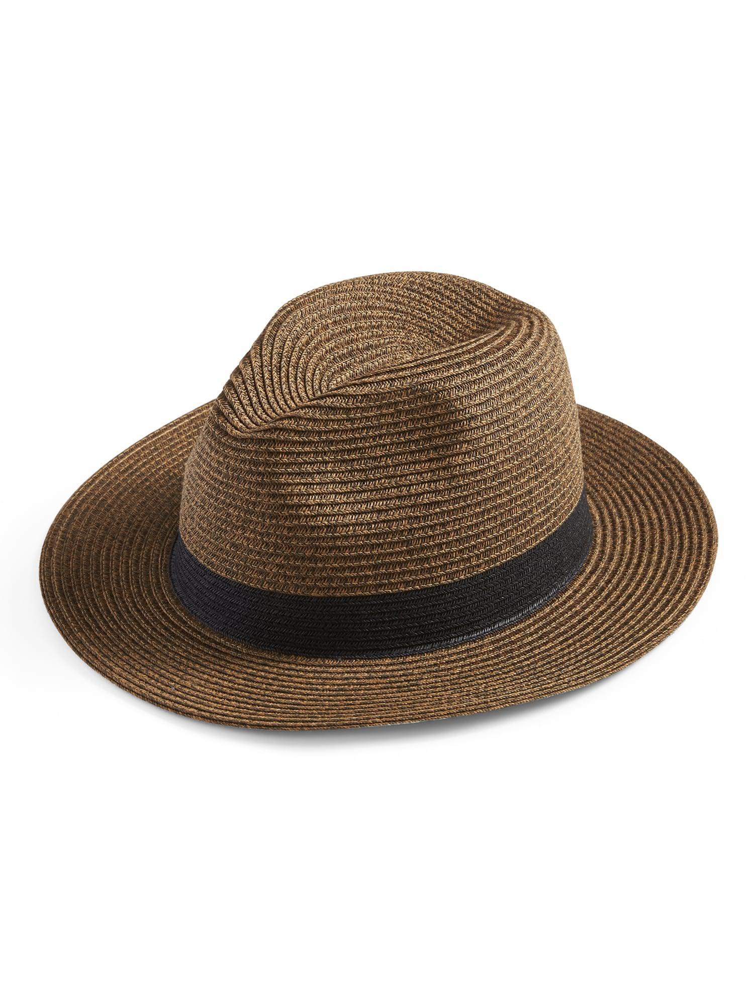 eb0adea22 Banana Republic Brown Straw Fedora Hat