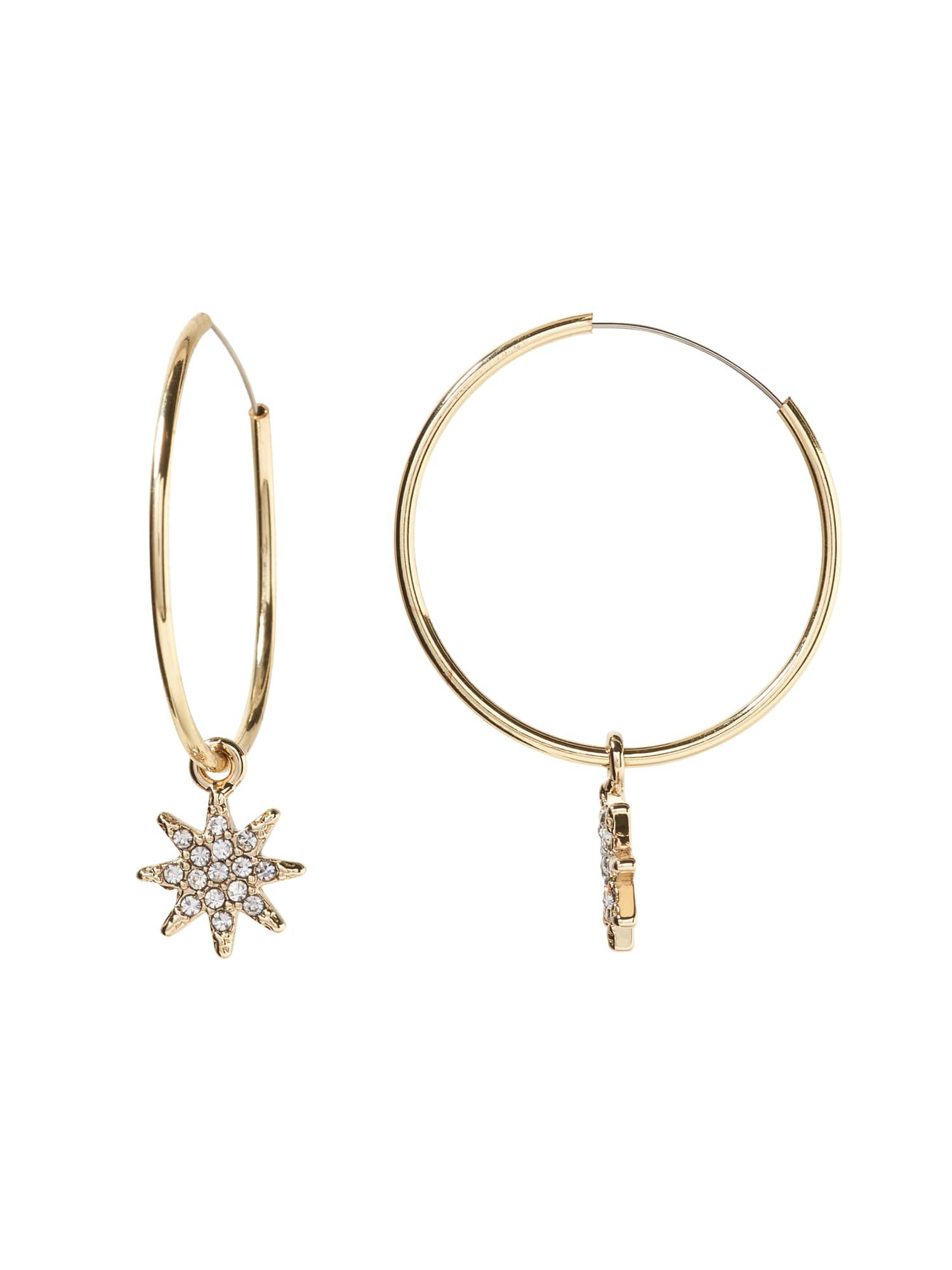 698cd24456659 Banana Republic Metallic Pave Starburst Hoop Earring