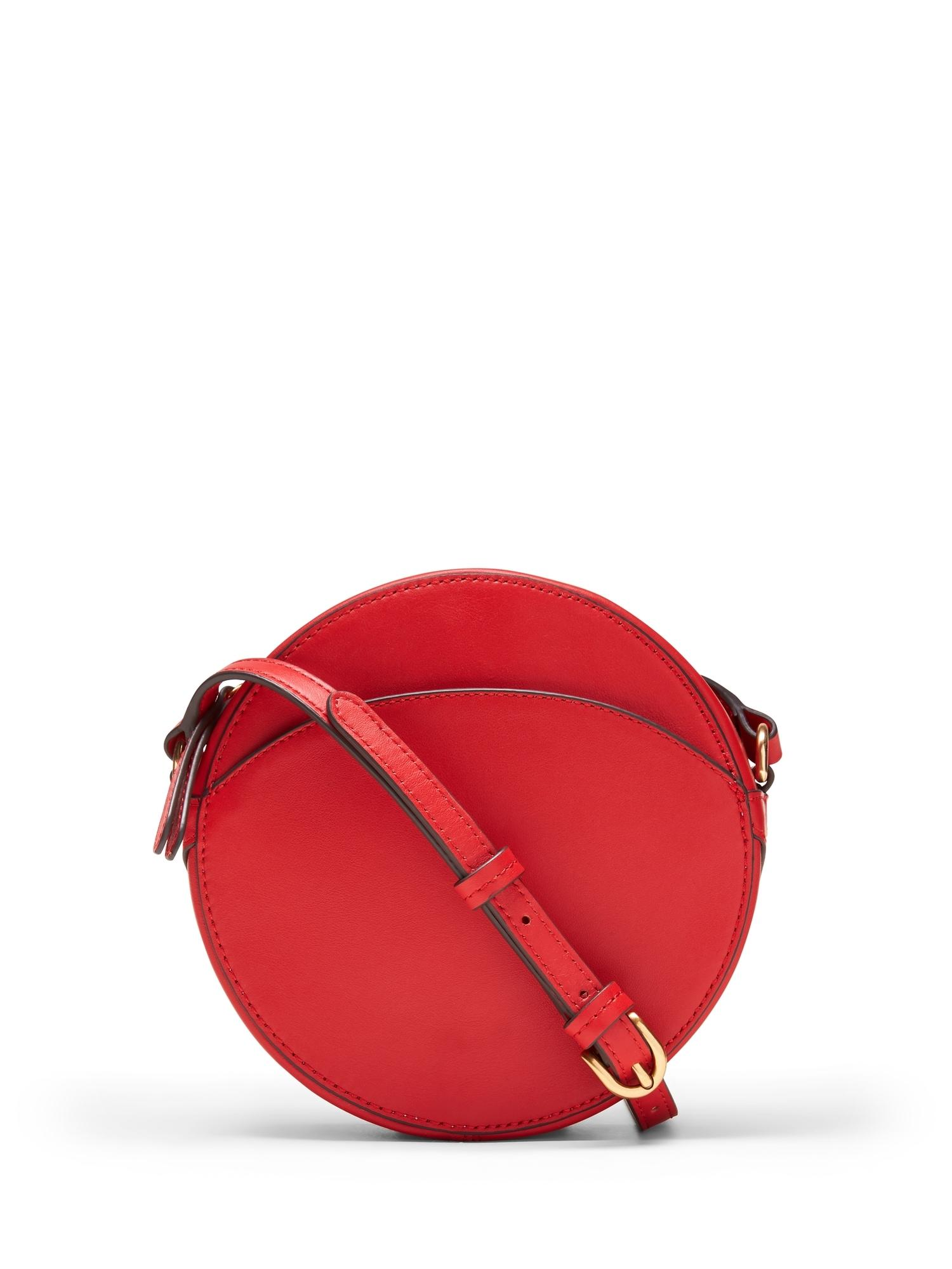 afd1349a29c9 Lyst - Banana Republic Italian Leather Canteen Crossbody Bag in Red