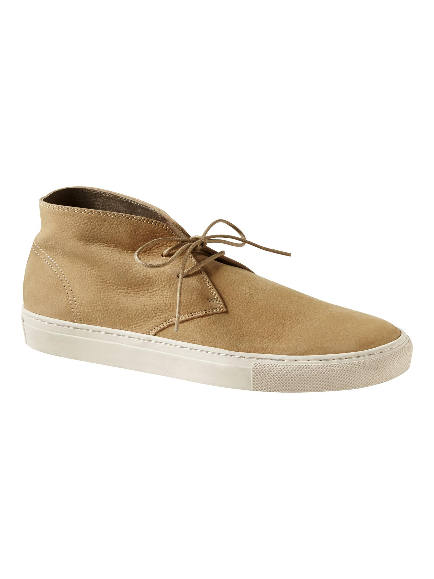 Leather Oldin Sneaker Chukka in Sand