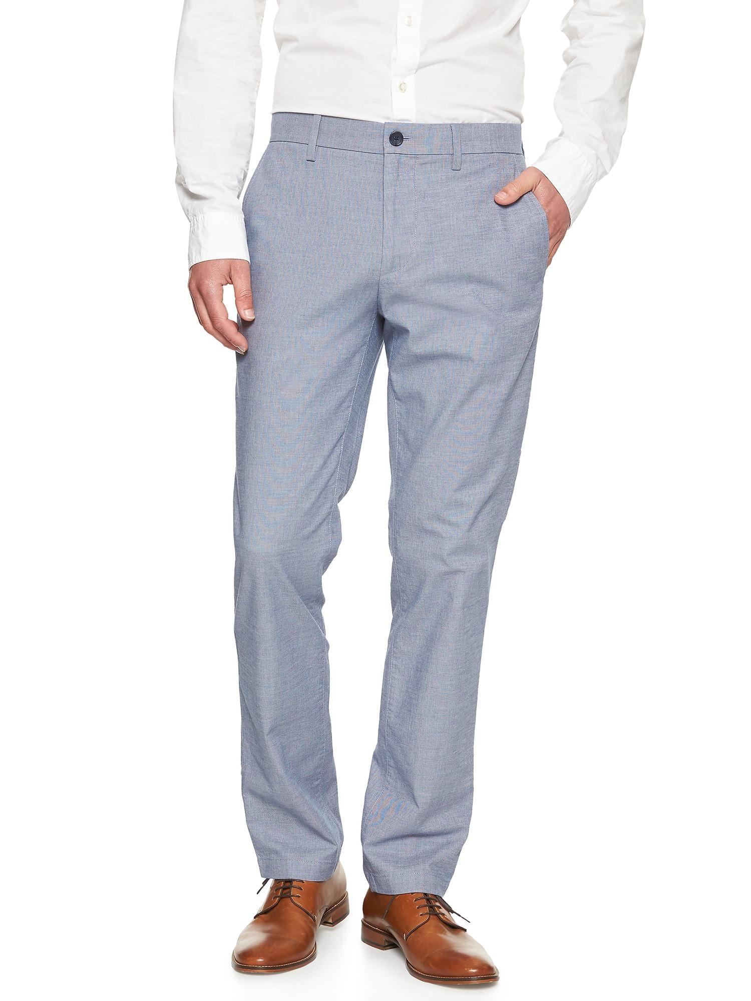 Banana Republic Mens Aiden-Fit Stretch Textured Trouser Black Pants Brand New