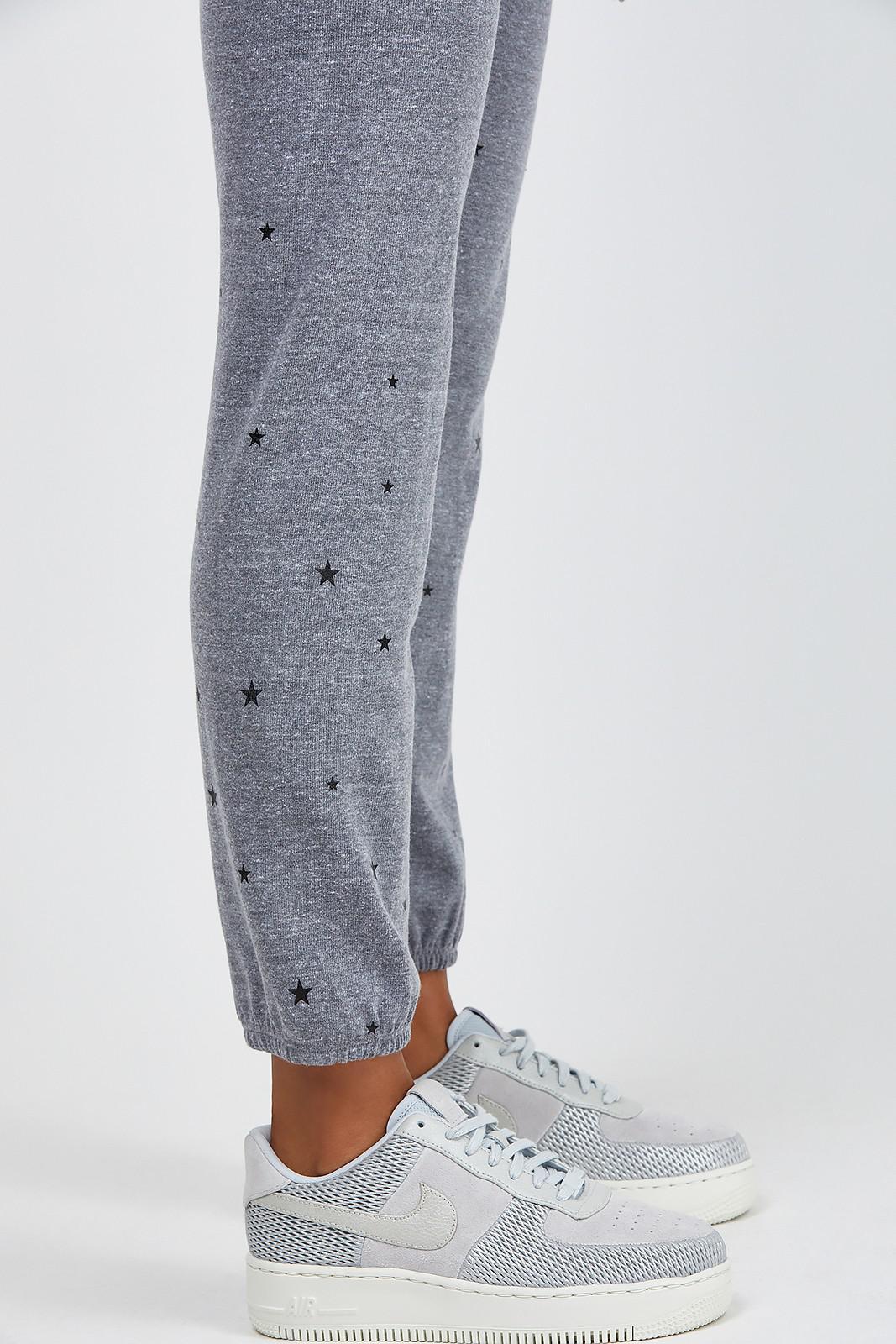 Monrow Womens Cuff Sweats W//Star Dust Studs