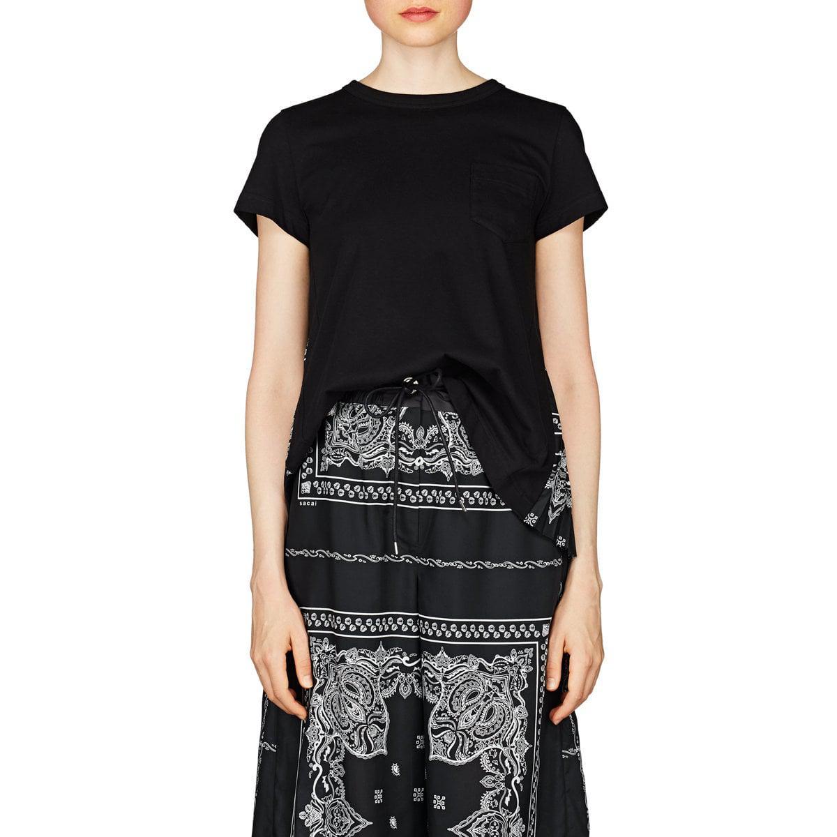 62eec5b2d3e Sacai - Black Bandana-print Cotton Swing T-shirt - Lyst. View fullscreen