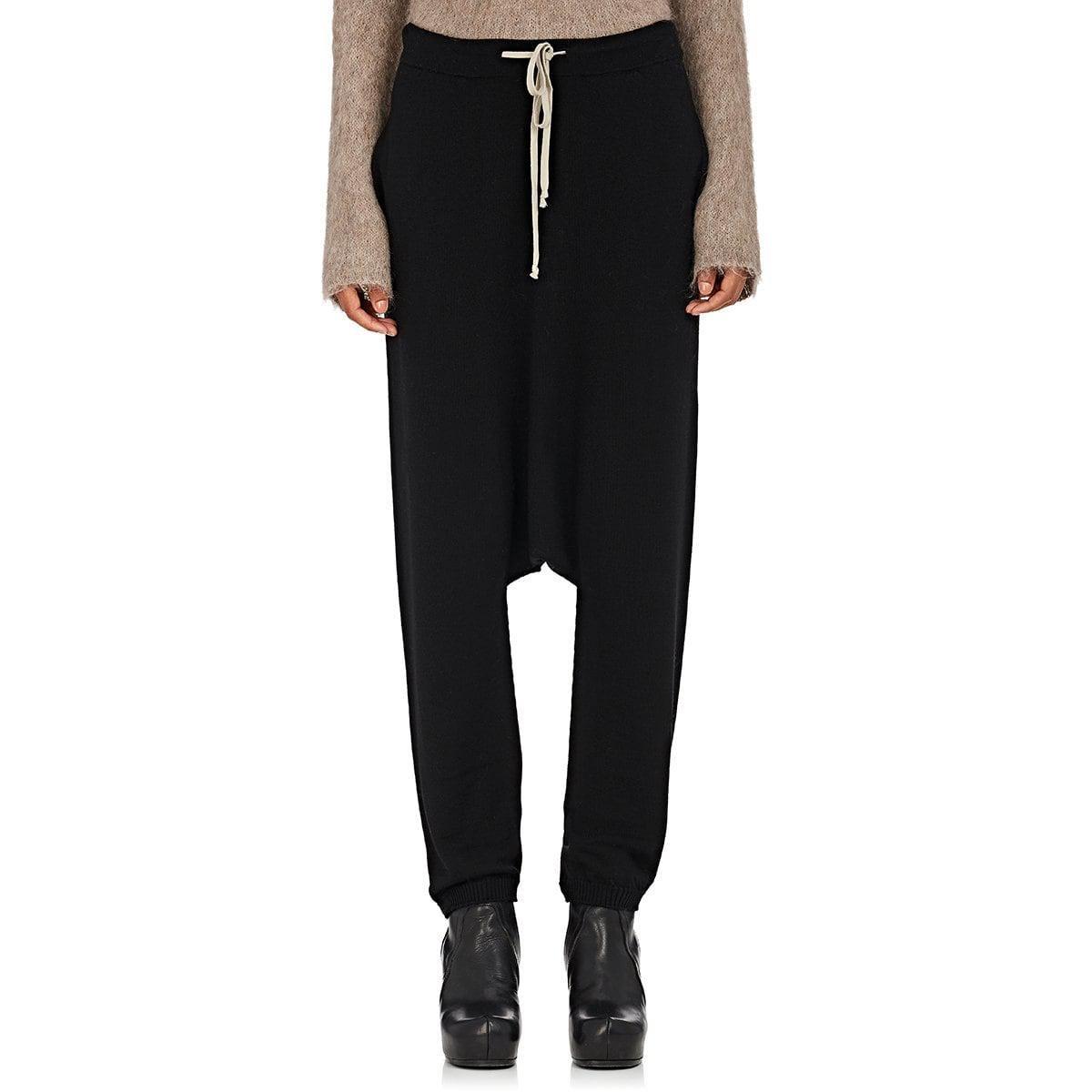 Womens Drop Rise Virgin Wool Drawstring Pants Rick Owens XWgoQo
