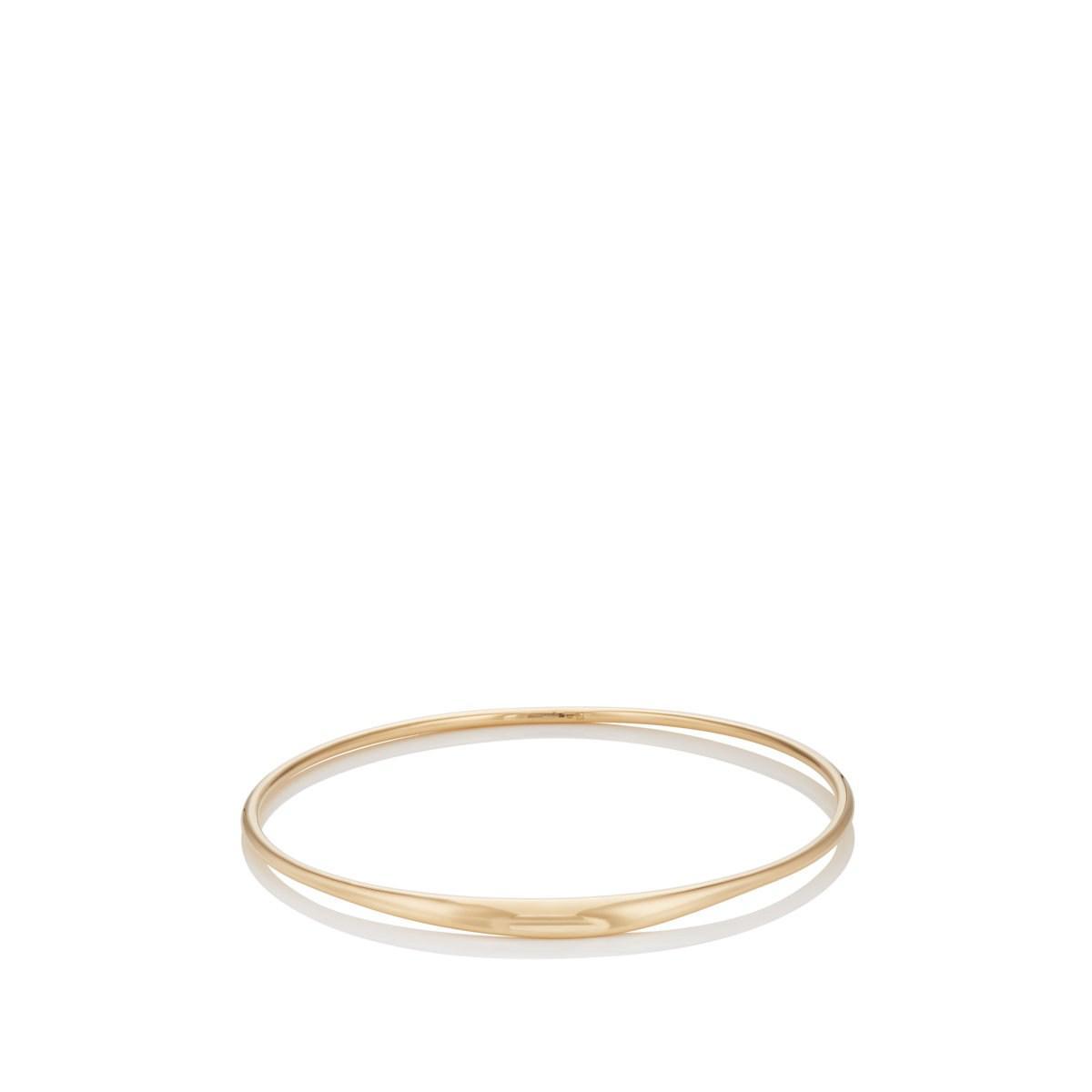 9354ba85a Lyst - TEJEN Yellow Gold Small Bangle in Metallic