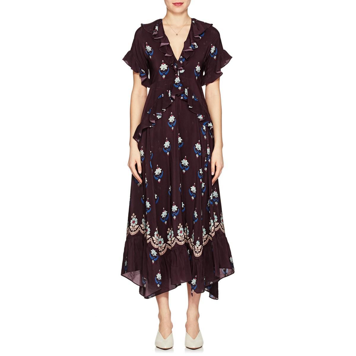 Really Cheap Shoes Online Discount 100% Authentic Womens Stevie Floral Crêpe De Chine Maxi Dress Warm Grey Outlet Store Online mitZXi4