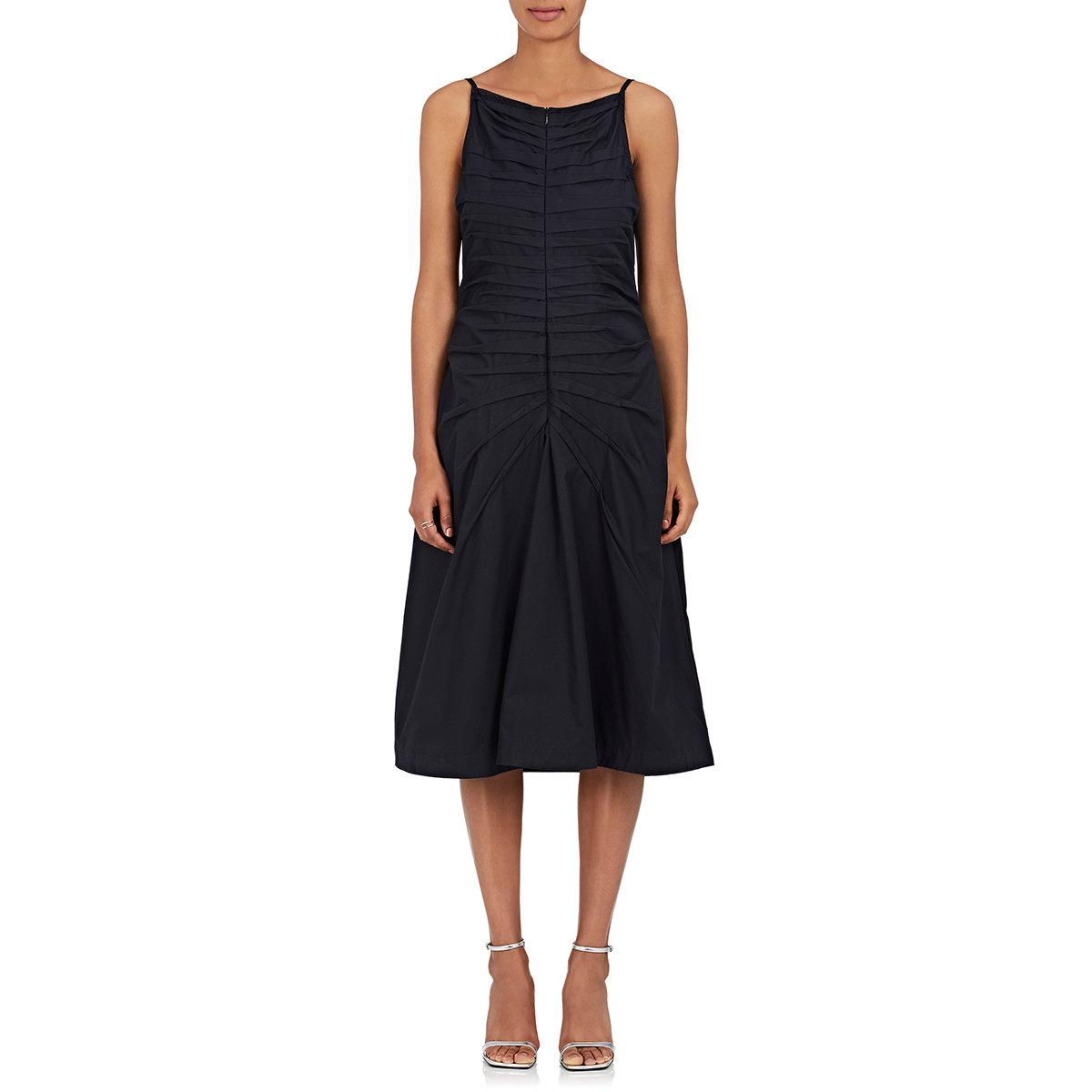Womens Pleated-Front Cotton Poplin Midi-Dress Teija Sale Clearance Store Footlocker Cheap Online Clearance The Cheapest Buy Cheap Find Great CTBsVRE1cP