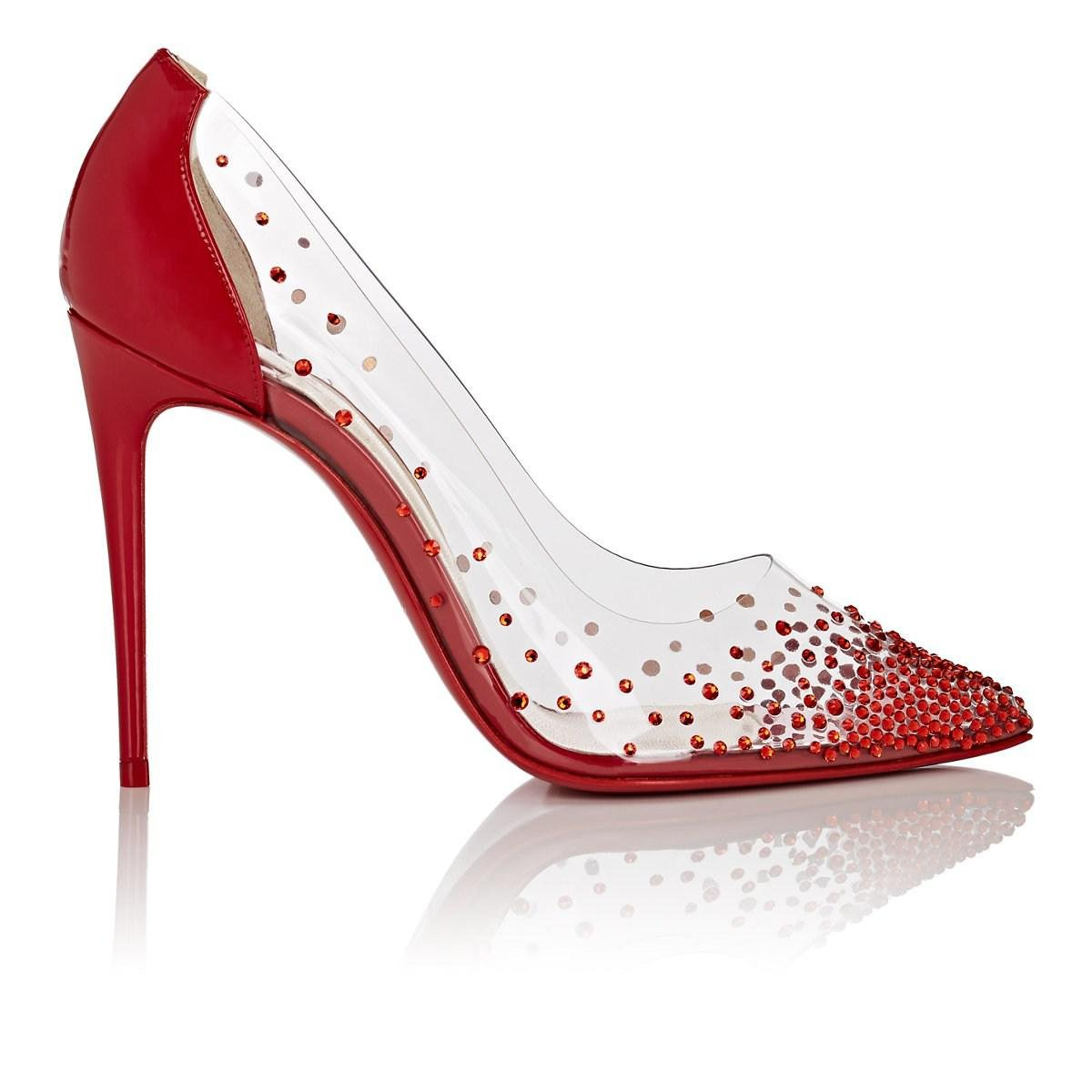 ac1d2265478c Christian Louboutin. Women s Red Degrastrass Pvc   Patent Leather Court  Shoes