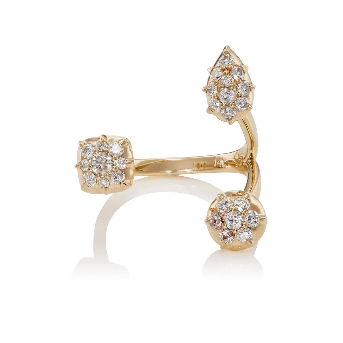 Carbon & Hyde Carbon & Hyde Woman Dharma 14-karat Rose Gold Diamond Earrings Rose Gold Size GkuoG