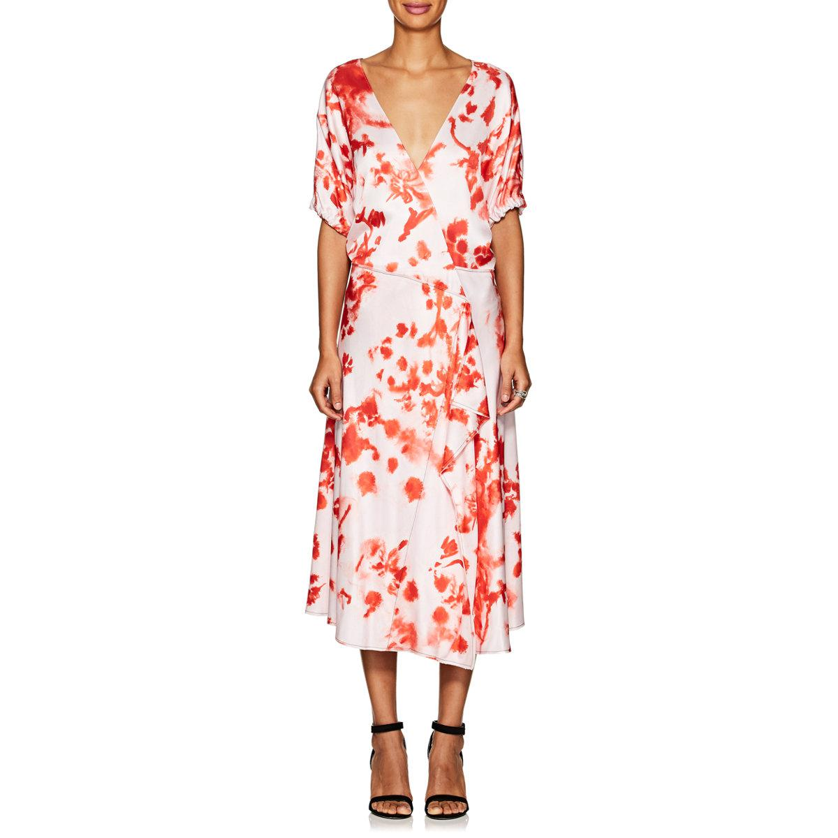 Printed Layer-Hem Midi Dress Cedric Charlier Official Cheap Price Buy Cheap Factory Outlet Outlet Genuine Real Cheap Price nRCrvKlwI