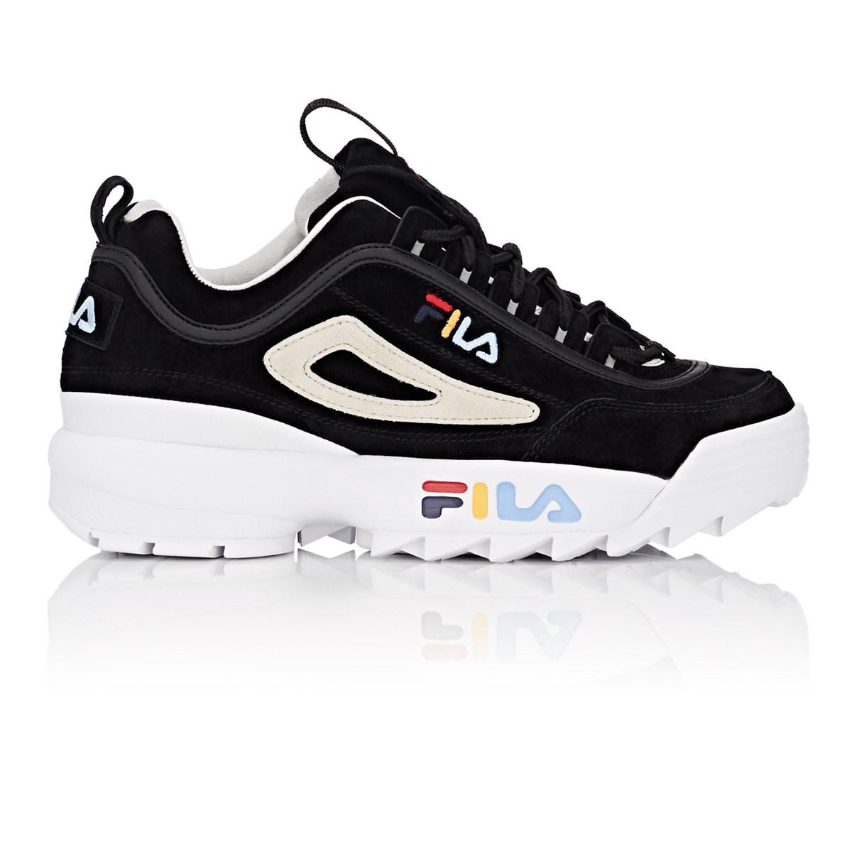 5ff852d28968 official photos 81f35 653bc Lyst - Fila Disruptor Ii Nubuck Sneakers in  Black .