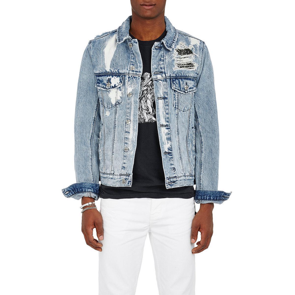 09230e1efa6d Lyst - Ksubi classic Distressed Cotton Denim Jacket in Blue for Men