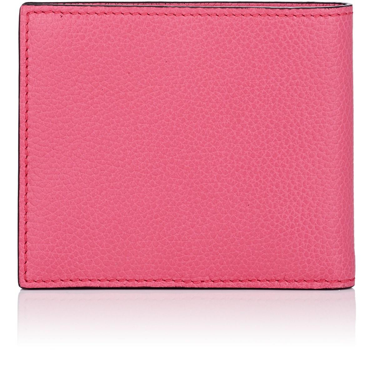 Gucci Logo Leather Billfold In Pink Amp Purple Pink For