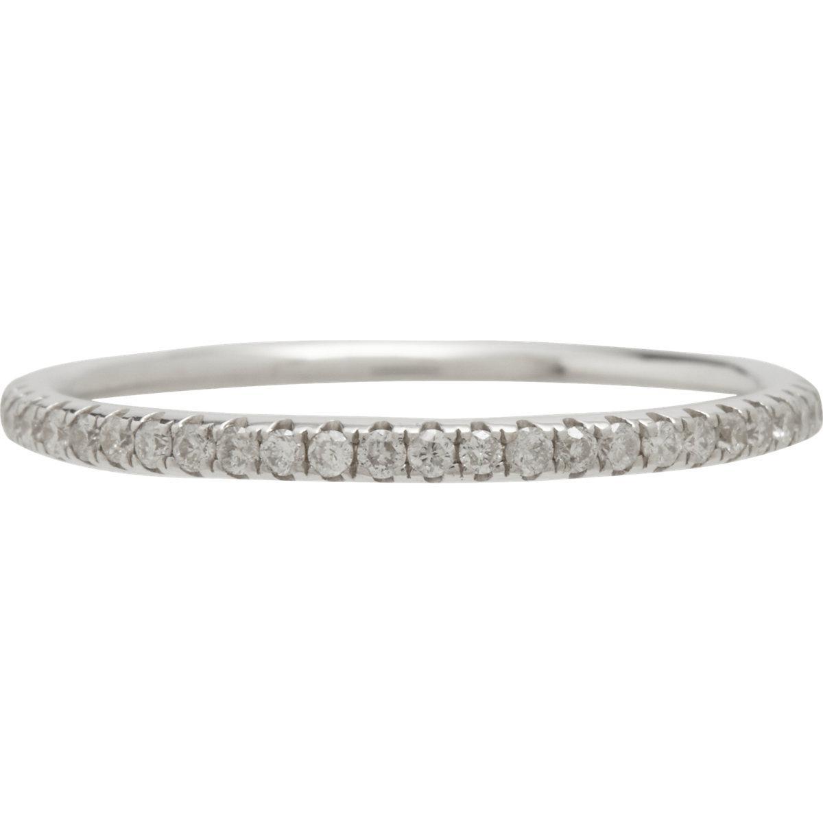 Ileana Makri Diamond End Ring in Metallics mnOEk