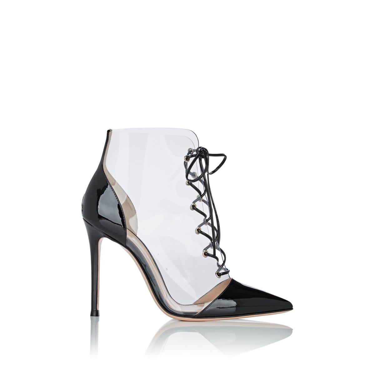 96b81a13ed7 Gianvito Rossi Pvc   Patent Leather Lace in Black - Lyst