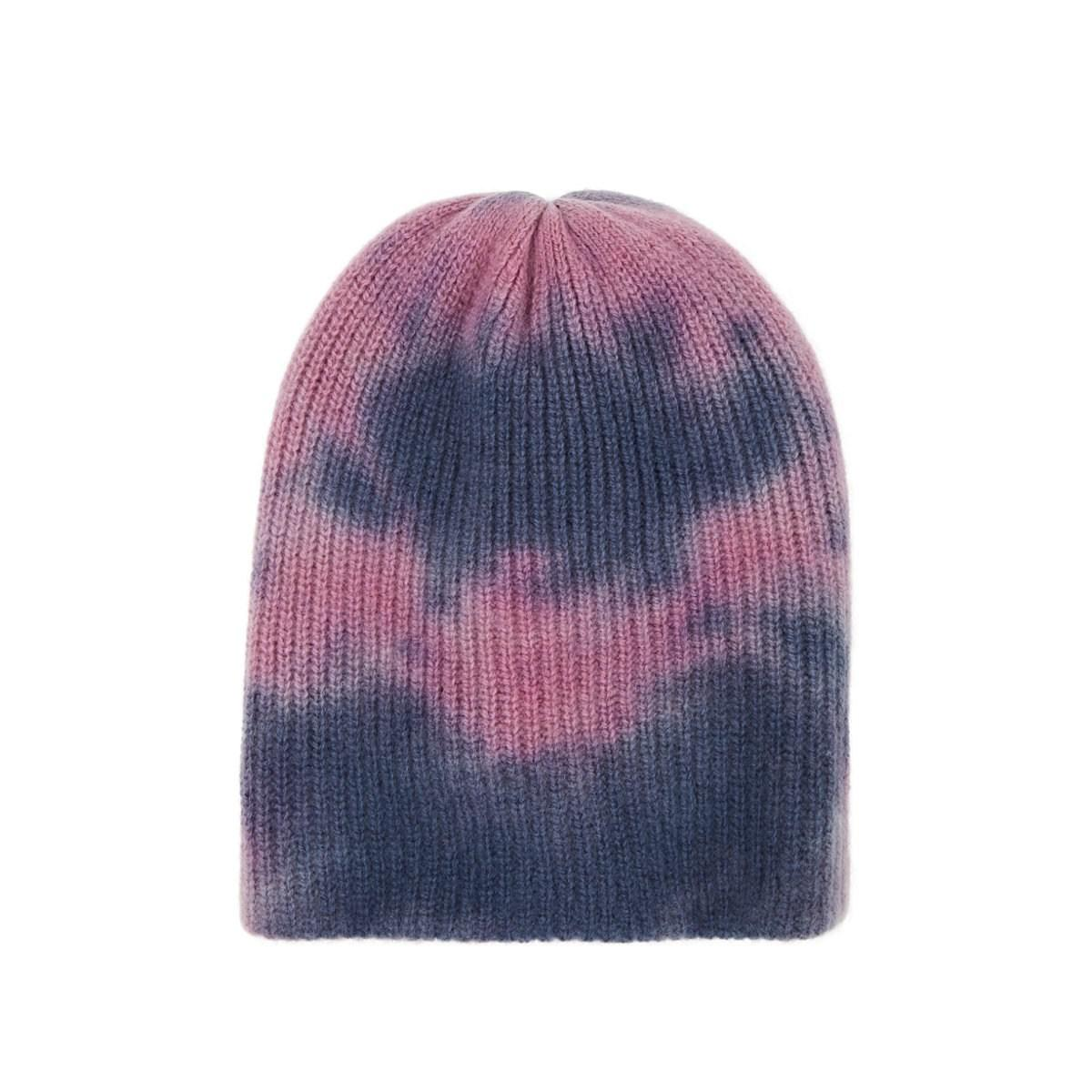 9133a601027 The Elder Statesman Tie-dyed Cashmere Watchman s Cap in Blue - Lyst