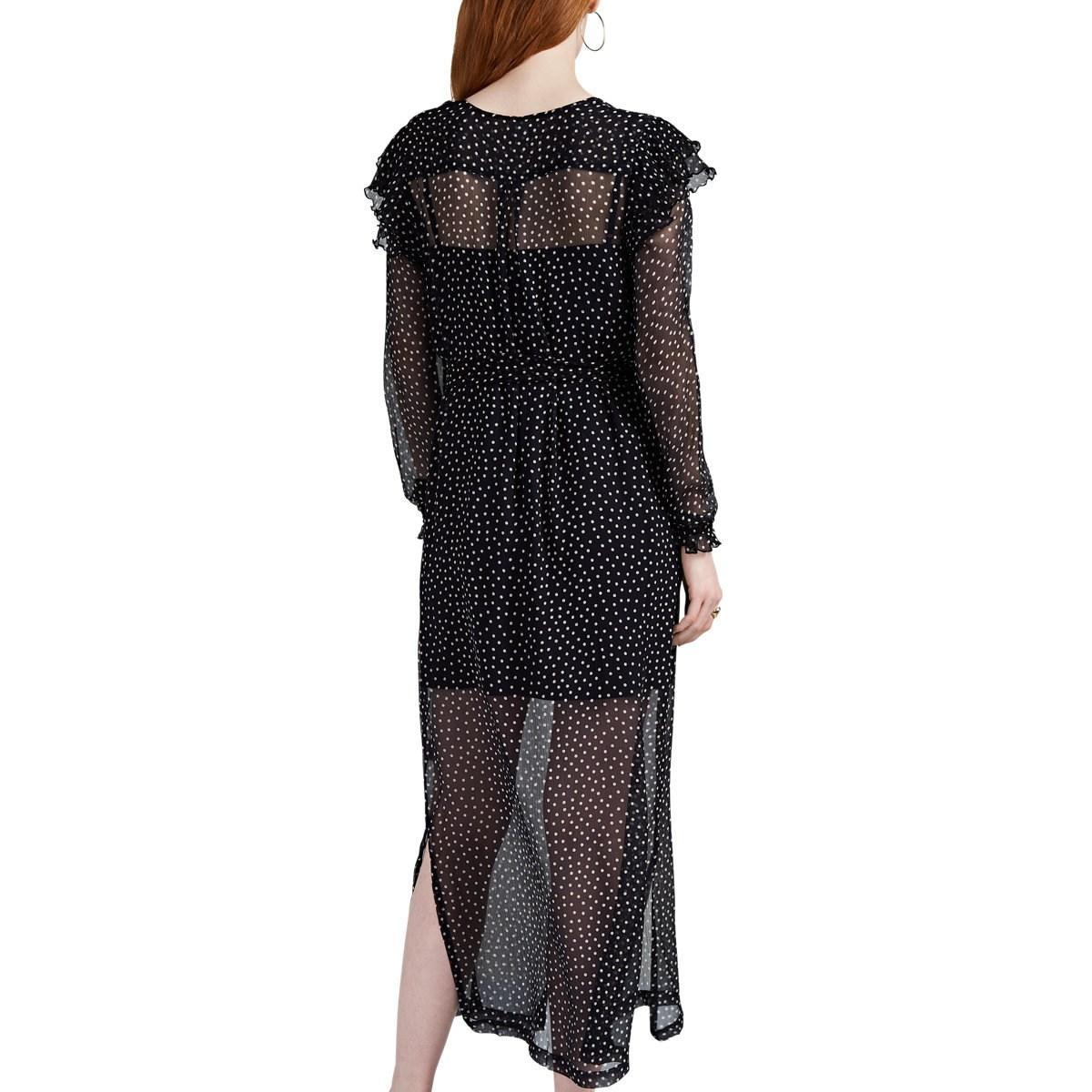Sir. The Label Constance Polka Dot Silk Chiffon Dress In
