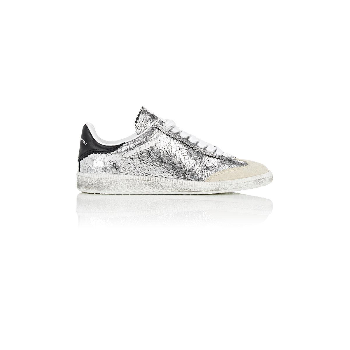Craquelé Isabel Marant Beth Lyst Leather Sneakers 1TKcFlJ