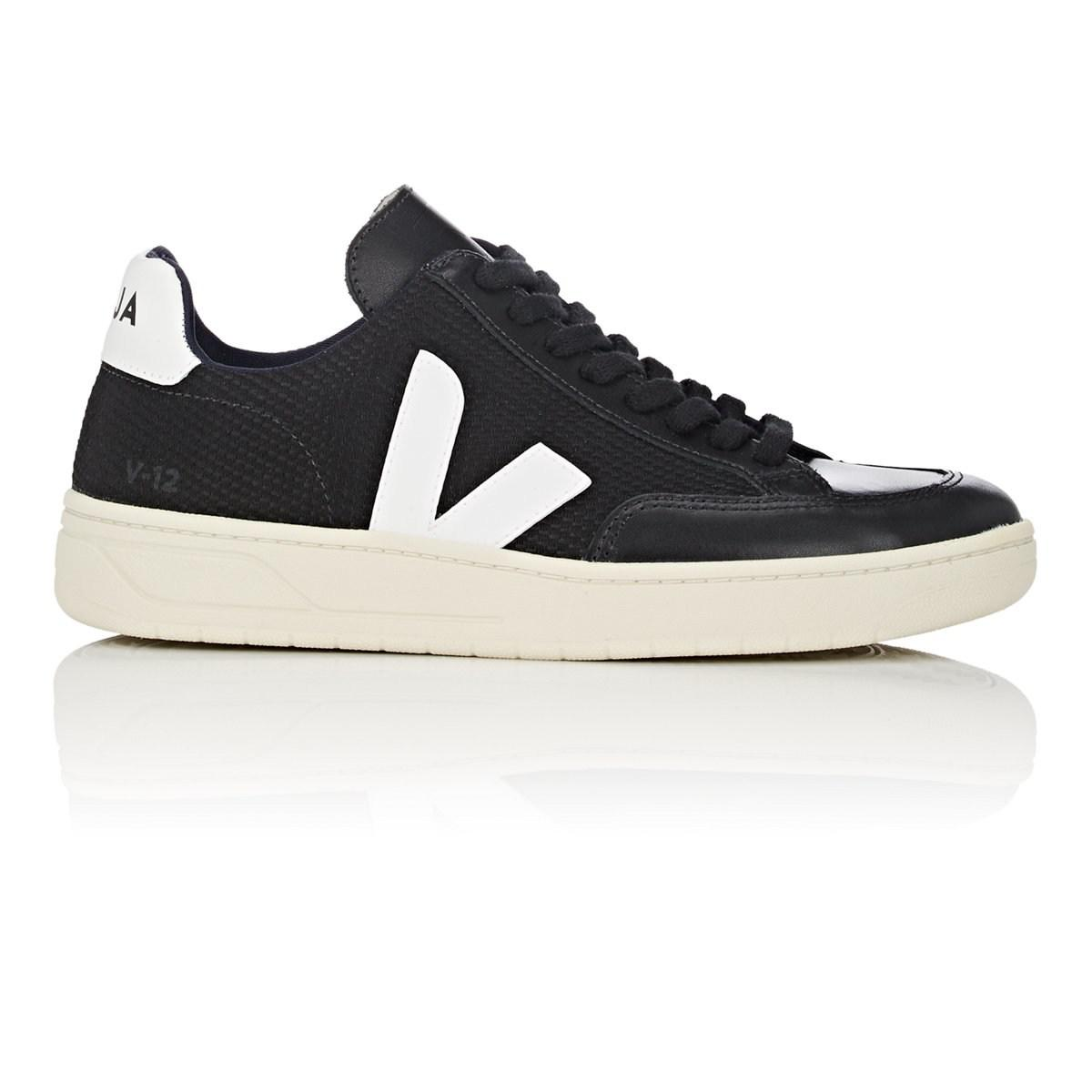 3a5bf69cb83a Veja. Women s Black V-12 Mesh   Leather Sneakers.  140 From Barneys New York