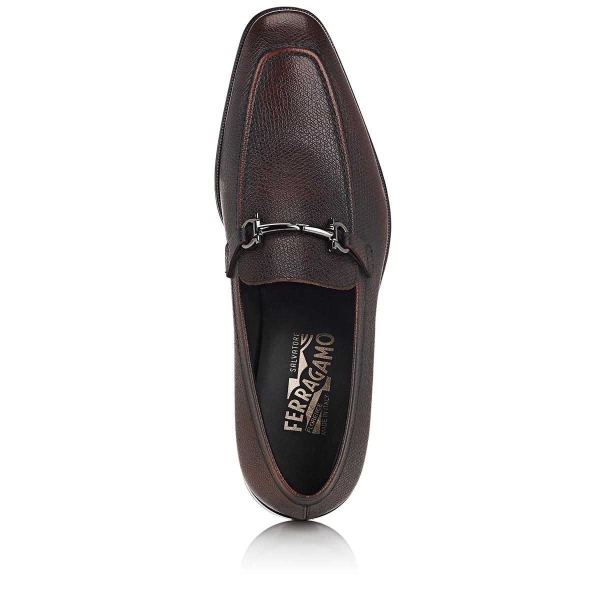 36087318343 Lyst - Ferragamo Fenice Burnished Leather Loafers in Brown for Men
