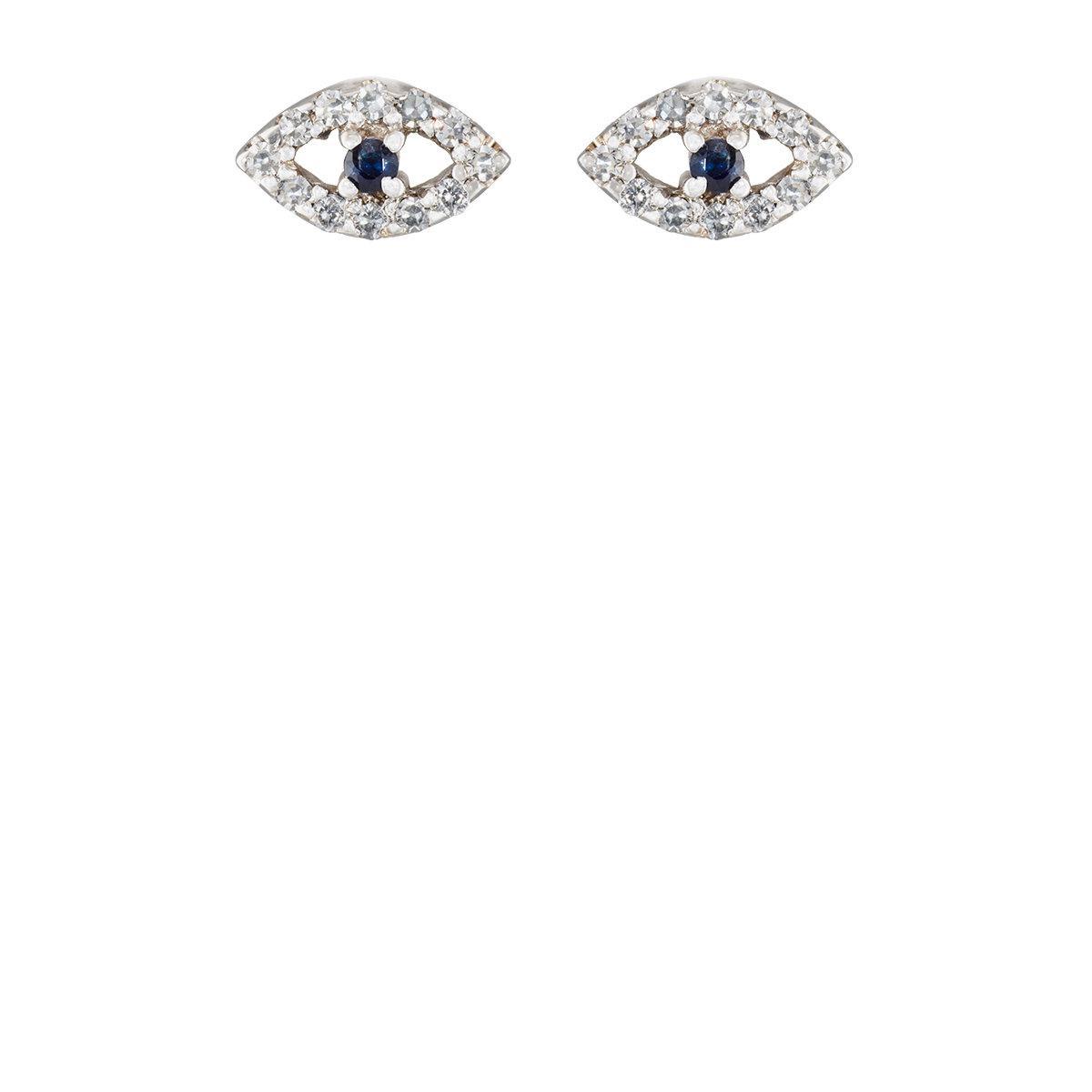 Ileana Makri Womens Kitten Eye Stud Earrings lWYLU