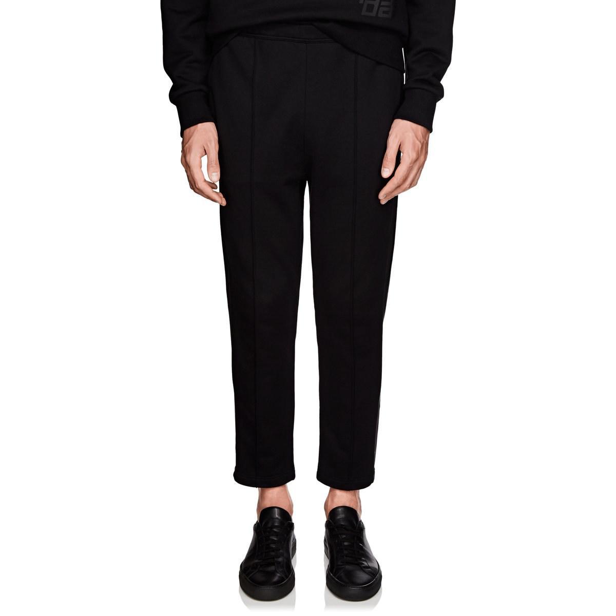 17f2c64e49ac Lyst - Prada Taped-striped Cotton Sweatpants in Black for Men