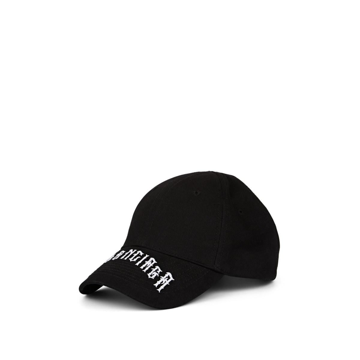 24359b41c Men's Black Gothic-logo-embroidered Cotton Cap