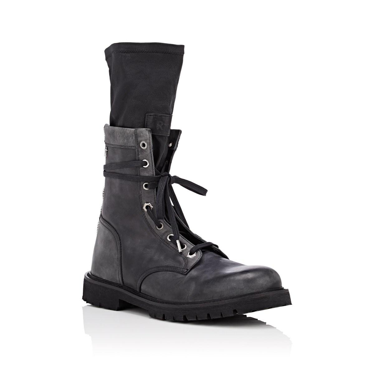 47369296065 Lyst - RTA Distressed Leather Combat Boots in Black for Men