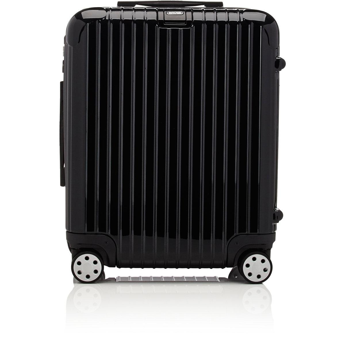 rimowa salsa deluxe 22 cabin multiwheel trolley in black. Black Bedroom Furniture Sets. Home Design Ideas