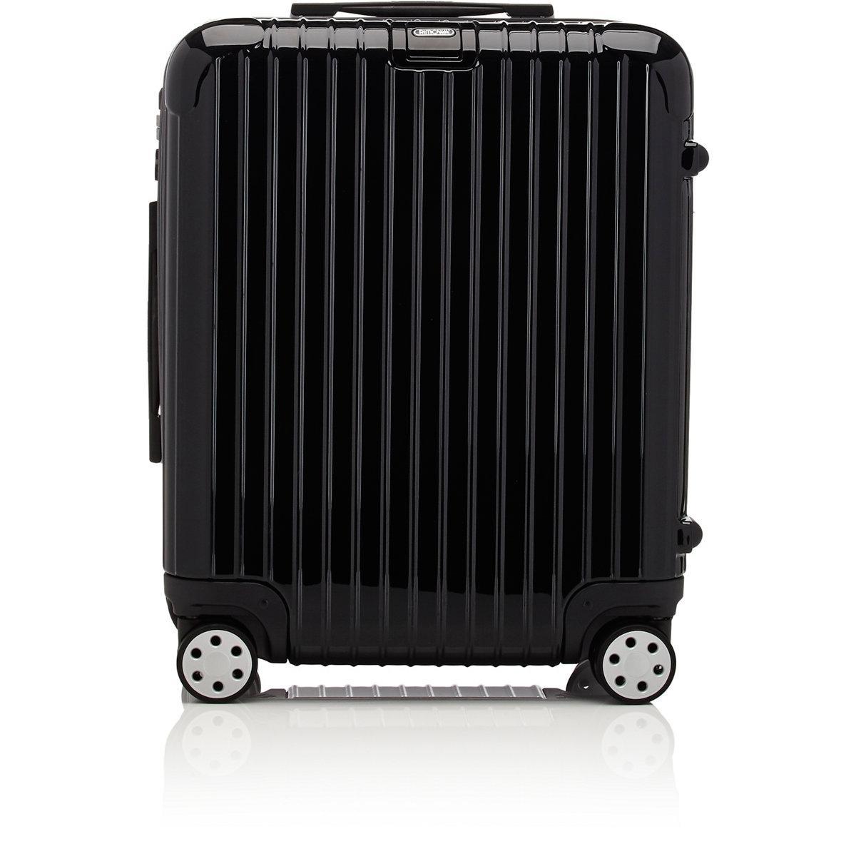rimowa salsa deluxe 22 cabin multiwheel trolley in black. Black Bedroom Furniture Sets. Home Design Ideas