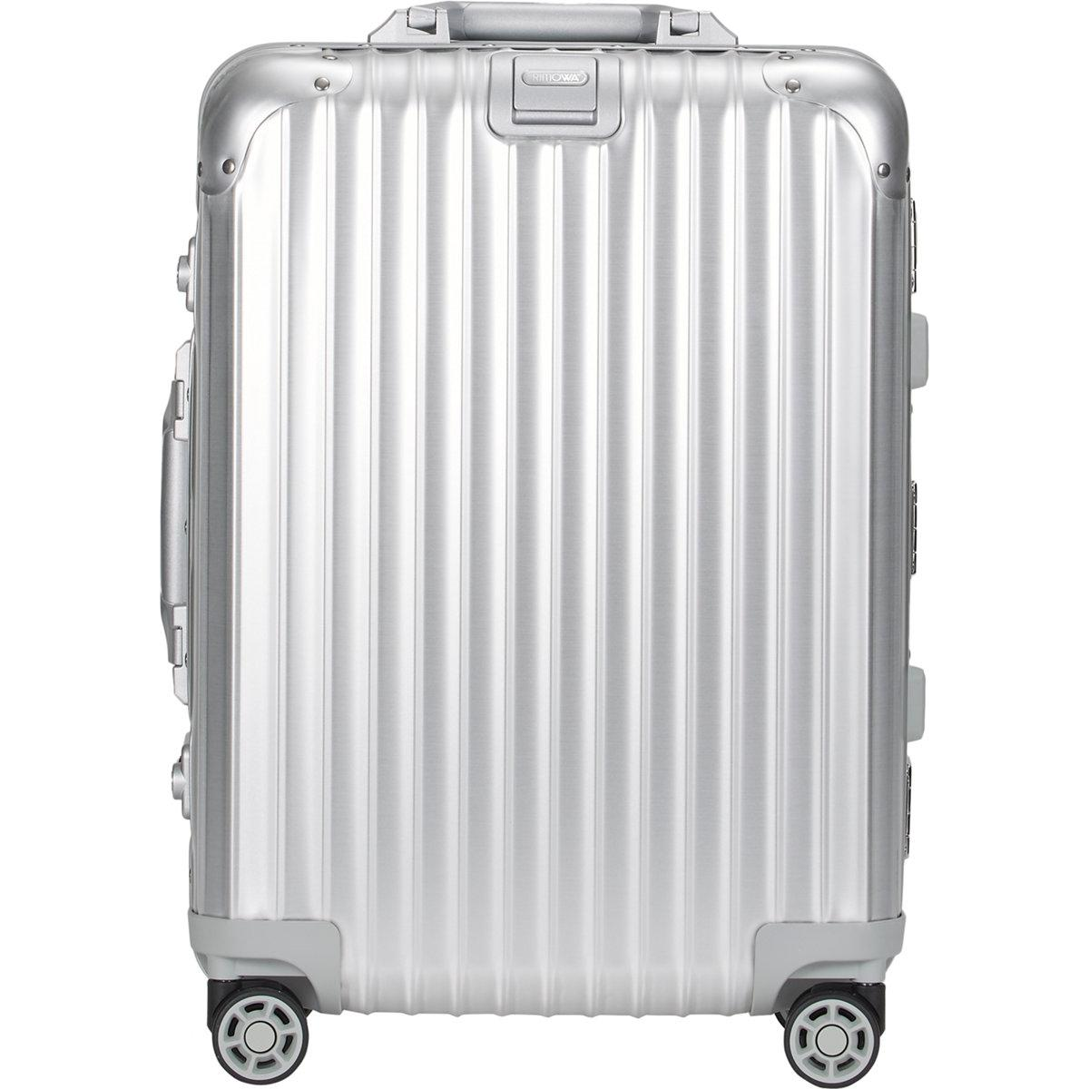rimowa topas 22 cabin multiwheel iata trolley in metallic for men lyst. Black Bedroom Furniture Sets. Home Design Ideas